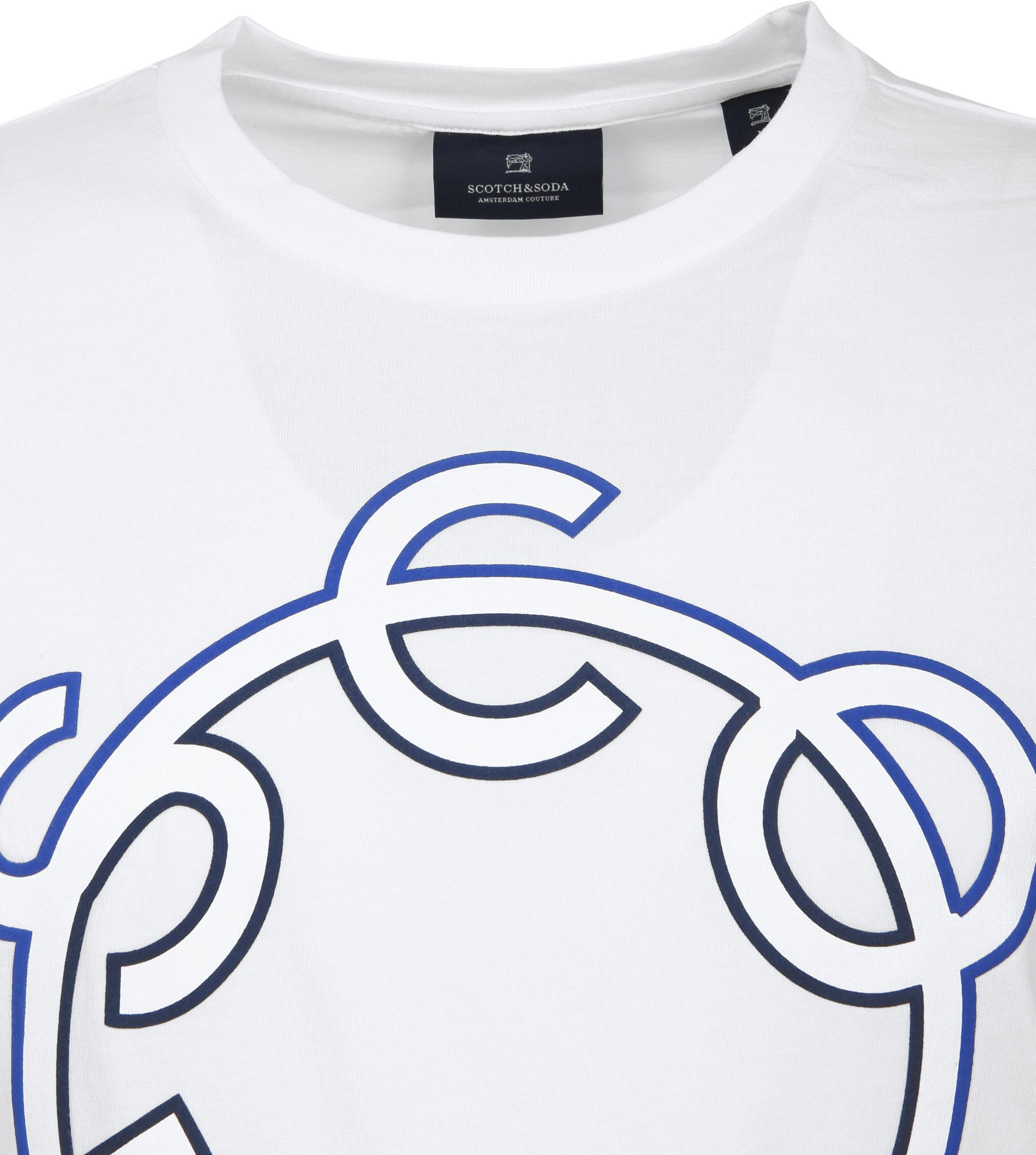 Scotch & Soda T-Shirt Logo Wit