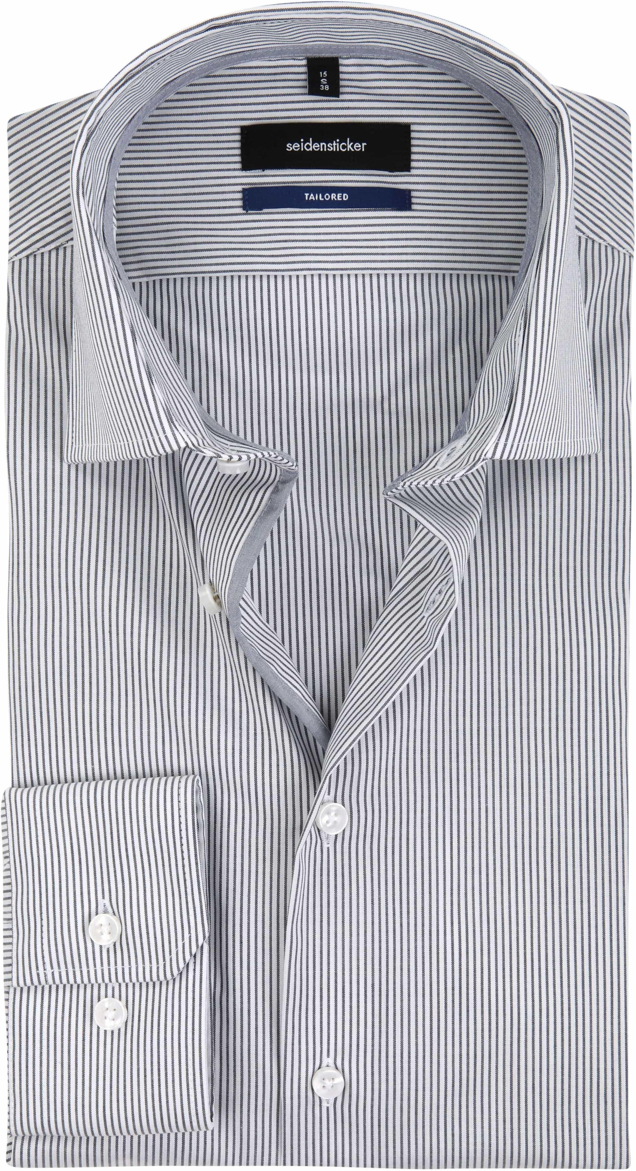 Seidensticker Bügelfrei Streifen Schwarz Weiß foto 0