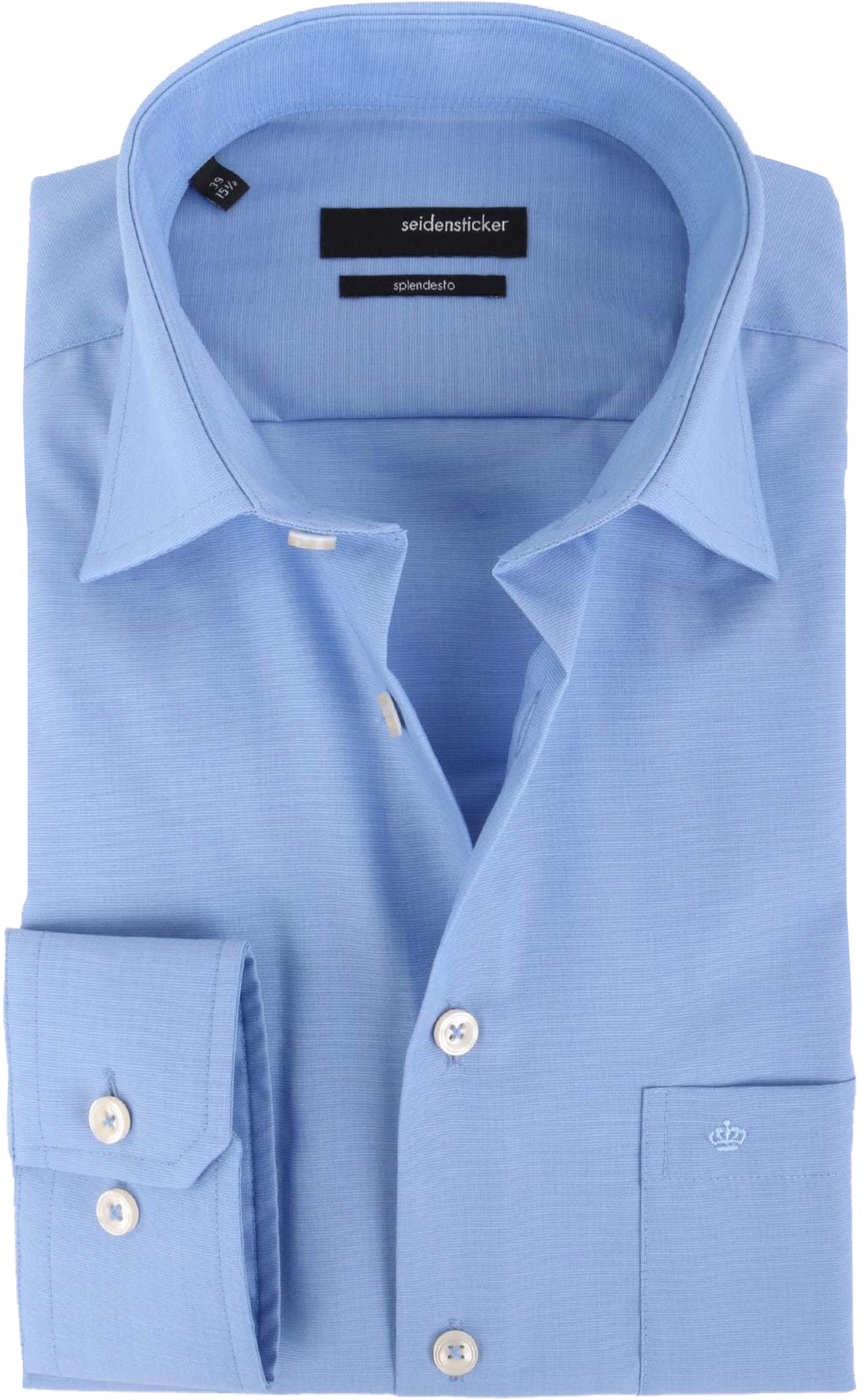 Seidensticker Hemd Bügelfrei Modern Blau foto 0