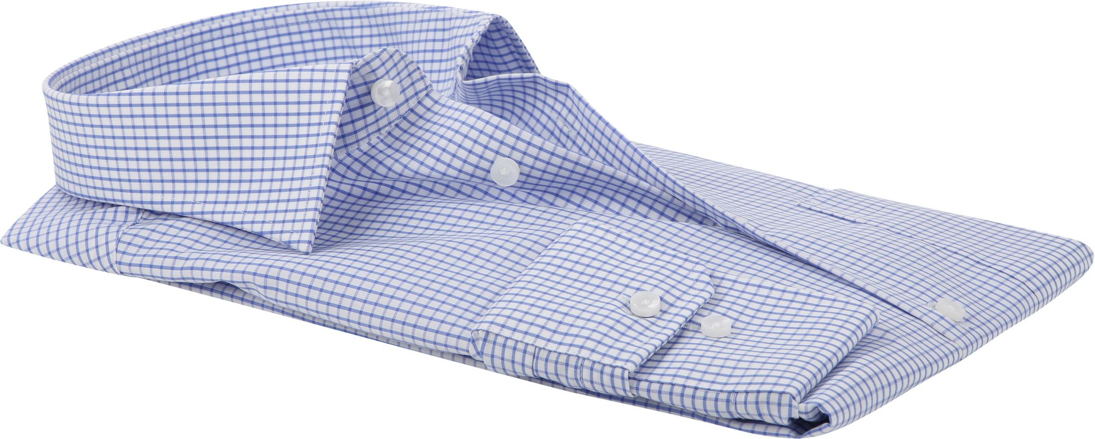 Seidensticker Hemd Bügelfrei Modern Blau Weiß Kariert foto 3