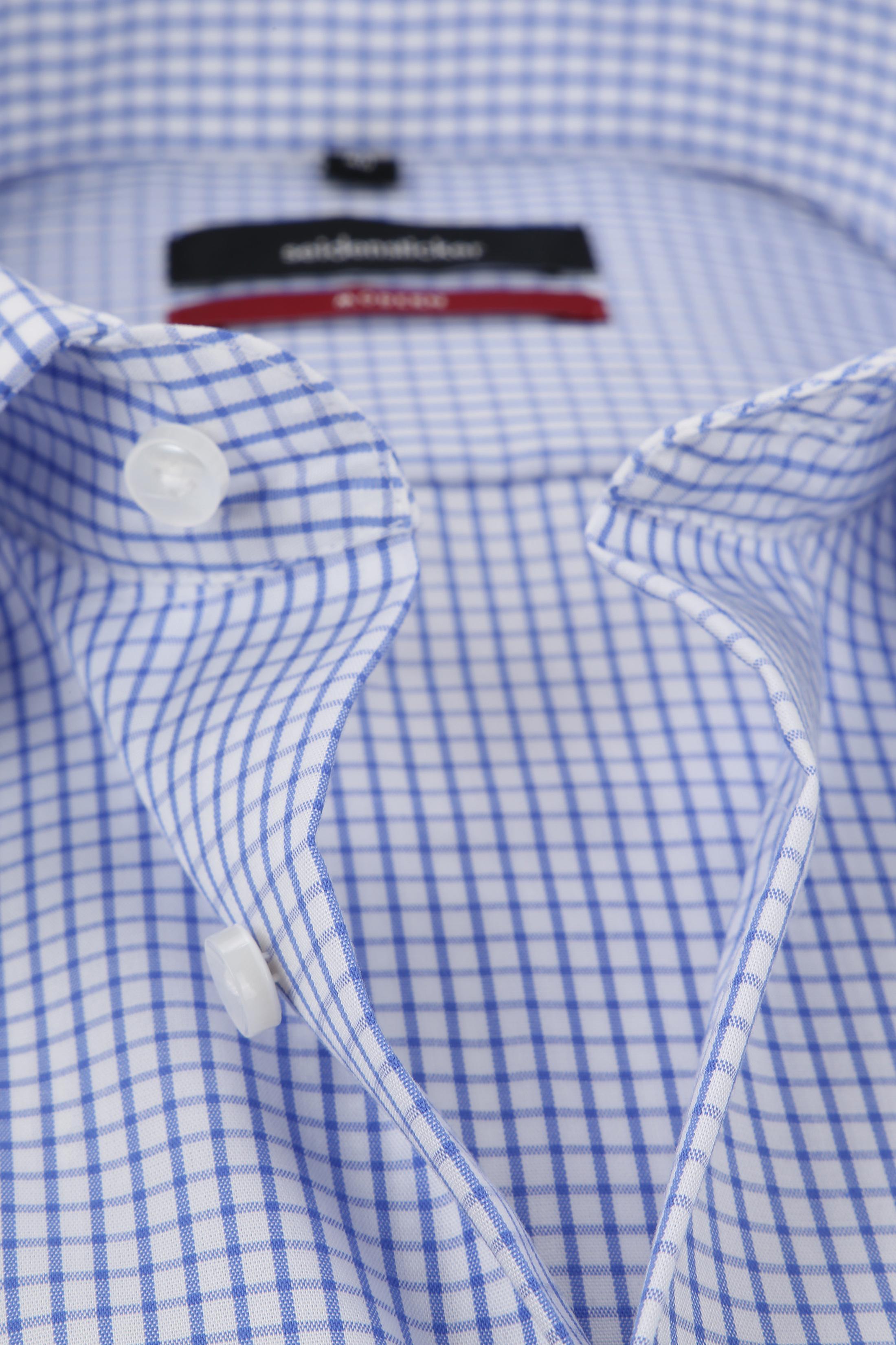 Seidensticker Hemd Bügelfrei Modern Blau Weiß Kariert foto 1