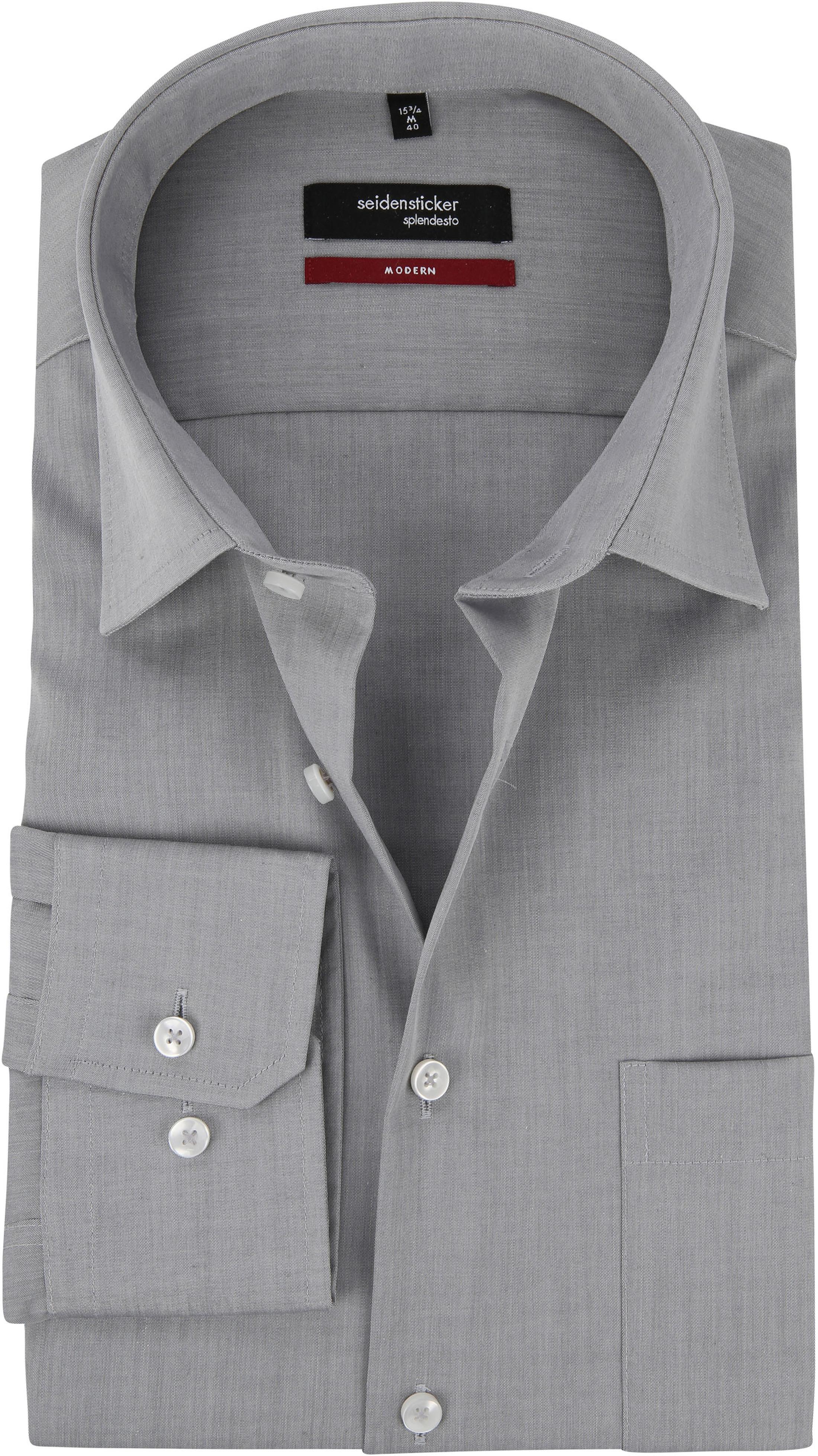 Seidensticker Hemd Bügelfrei Modern Grau foto 0