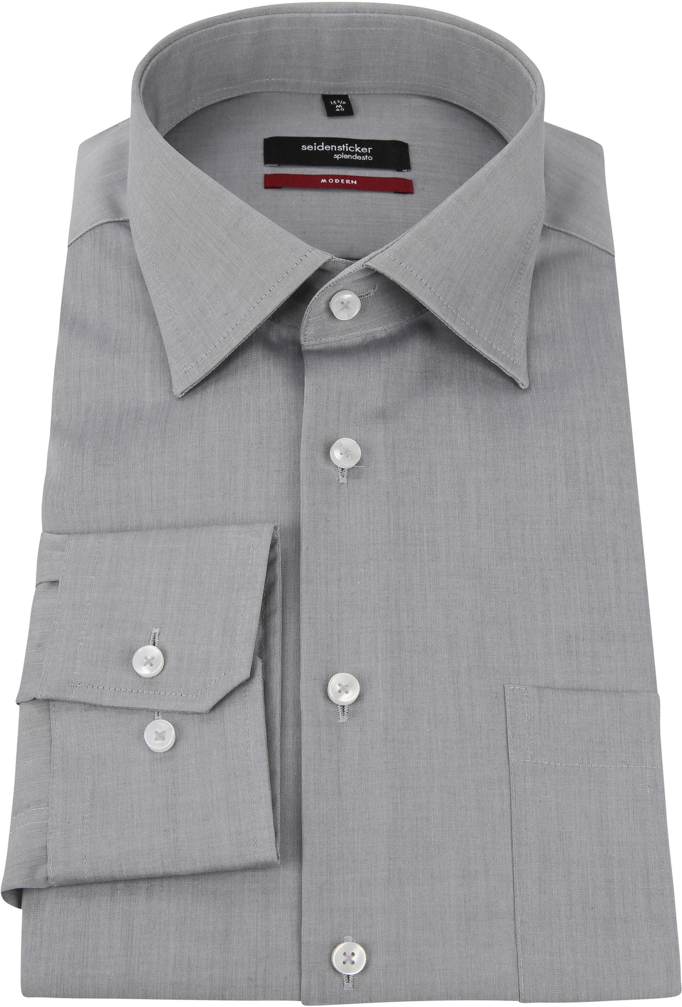 Seidensticker Hemd Bügelfrei Modern Grau foto 2