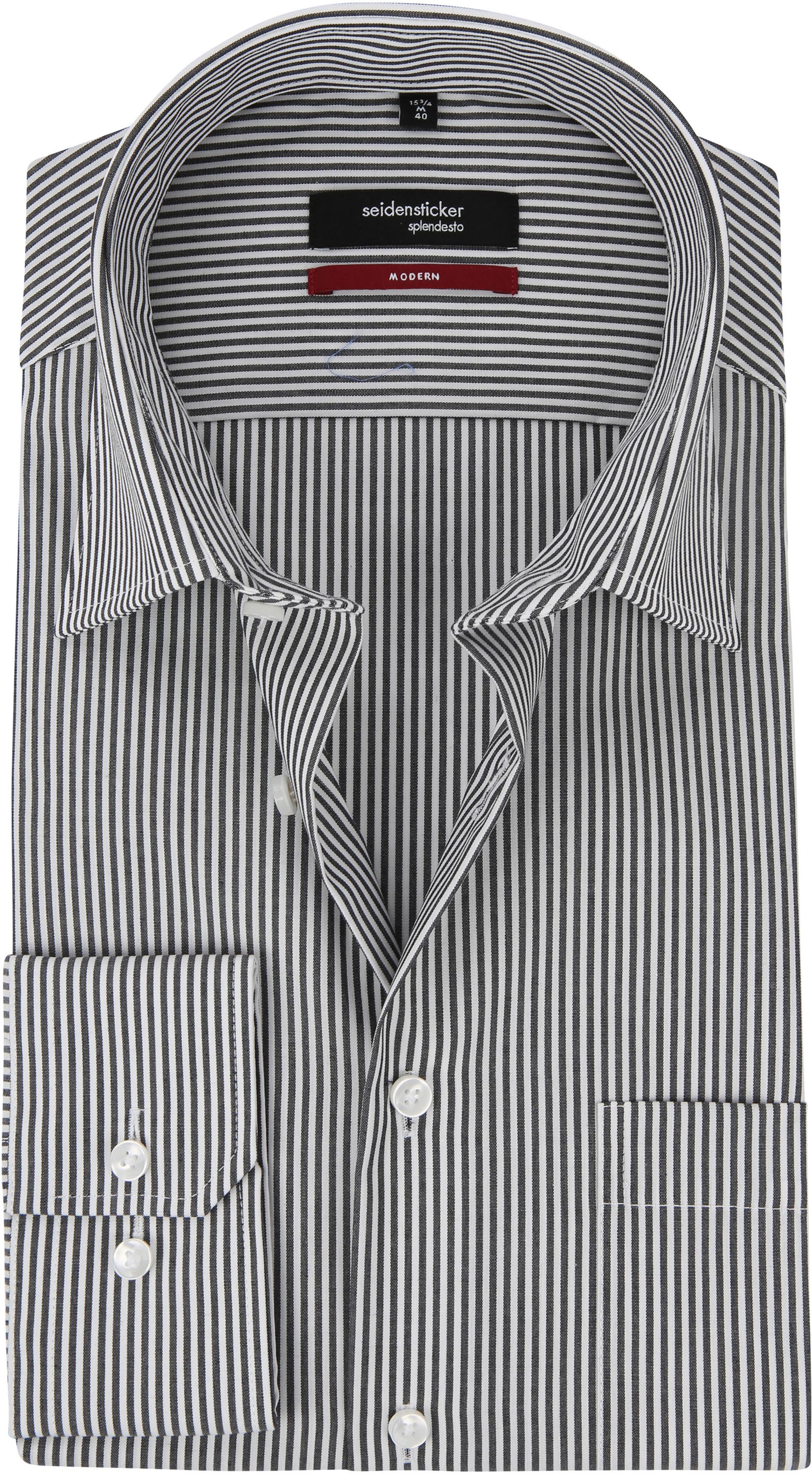 Seidensticker Hemd Bügelfrei Modern Schwarz Weiß Streifen foto 0