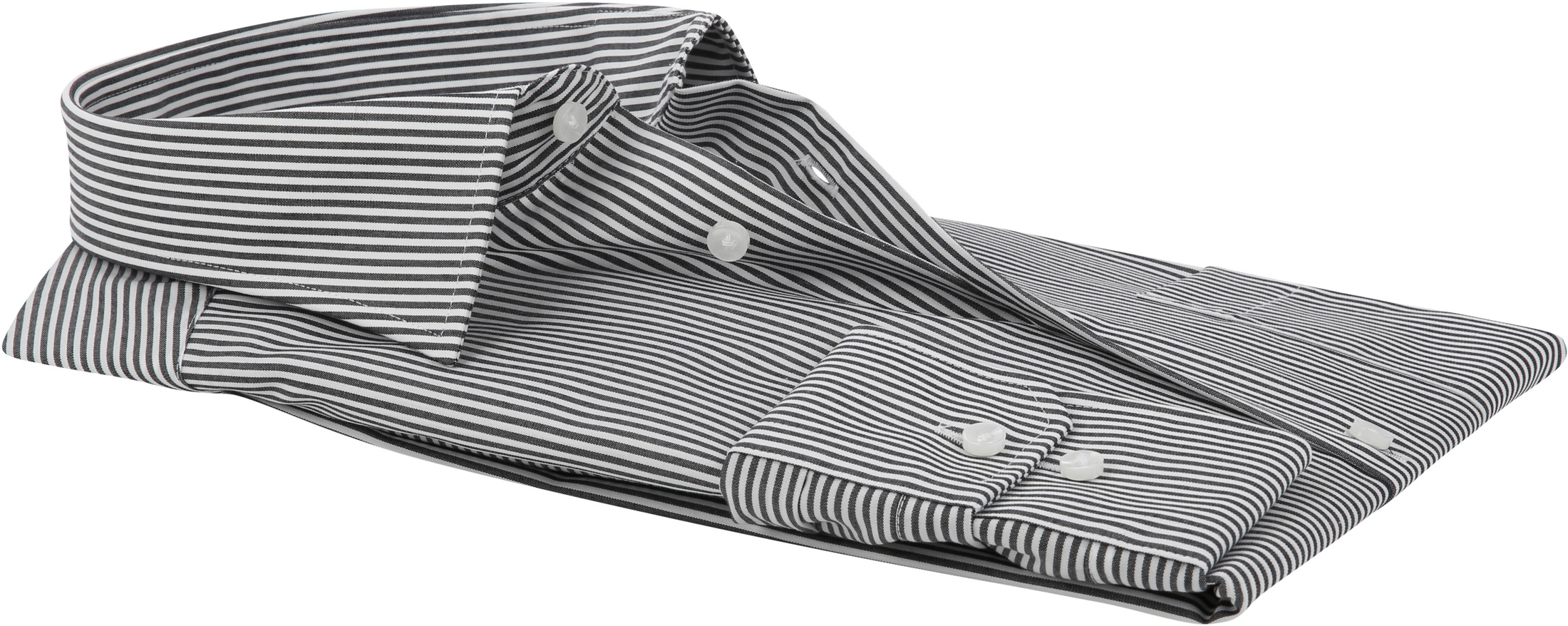 Seidensticker Hemd Bügelfrei Modern Schwarz Weiß Streifen foto 3