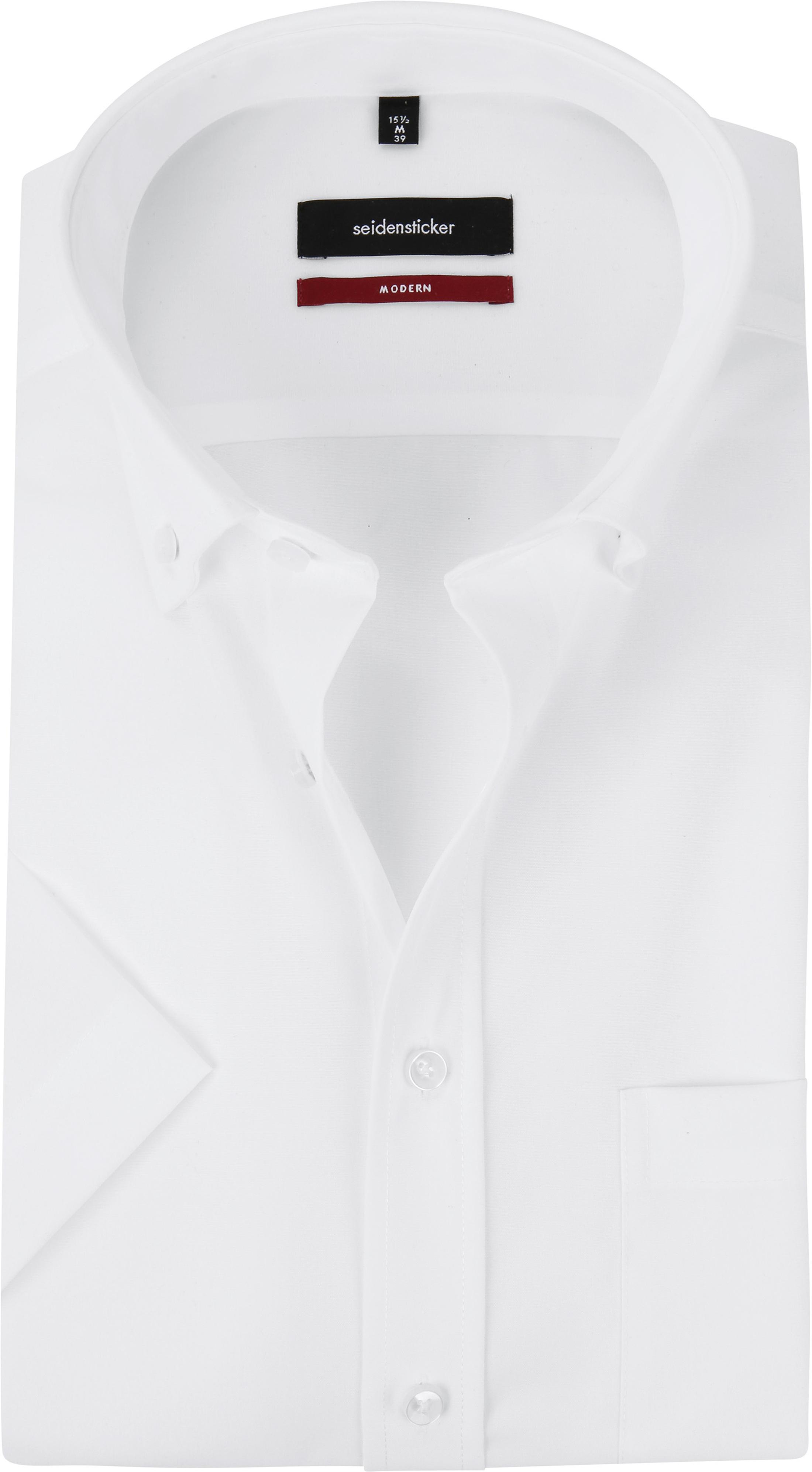 brand new ba5b0 85def Seidensticker Hemd Kurzarm Bügelfrei Modern Uni Weiß