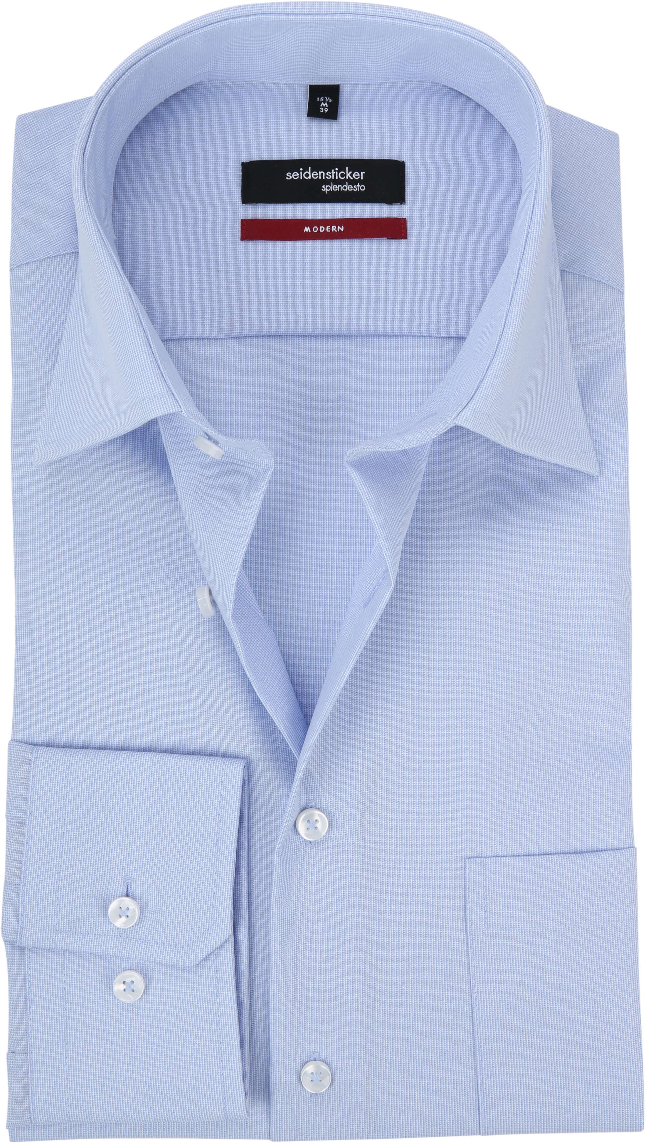 Seidensticker Hemd Modern Bügelfrei Himmelblau foto 0