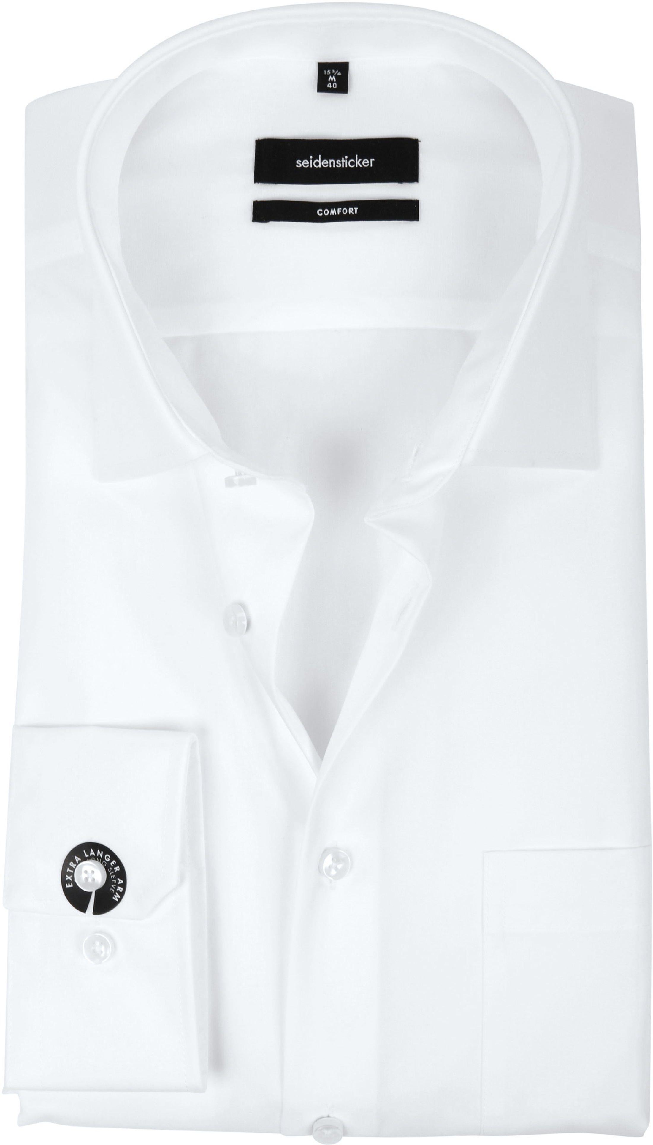 Seidensticker Non Iron Comfort-Fit White S7 foto 0