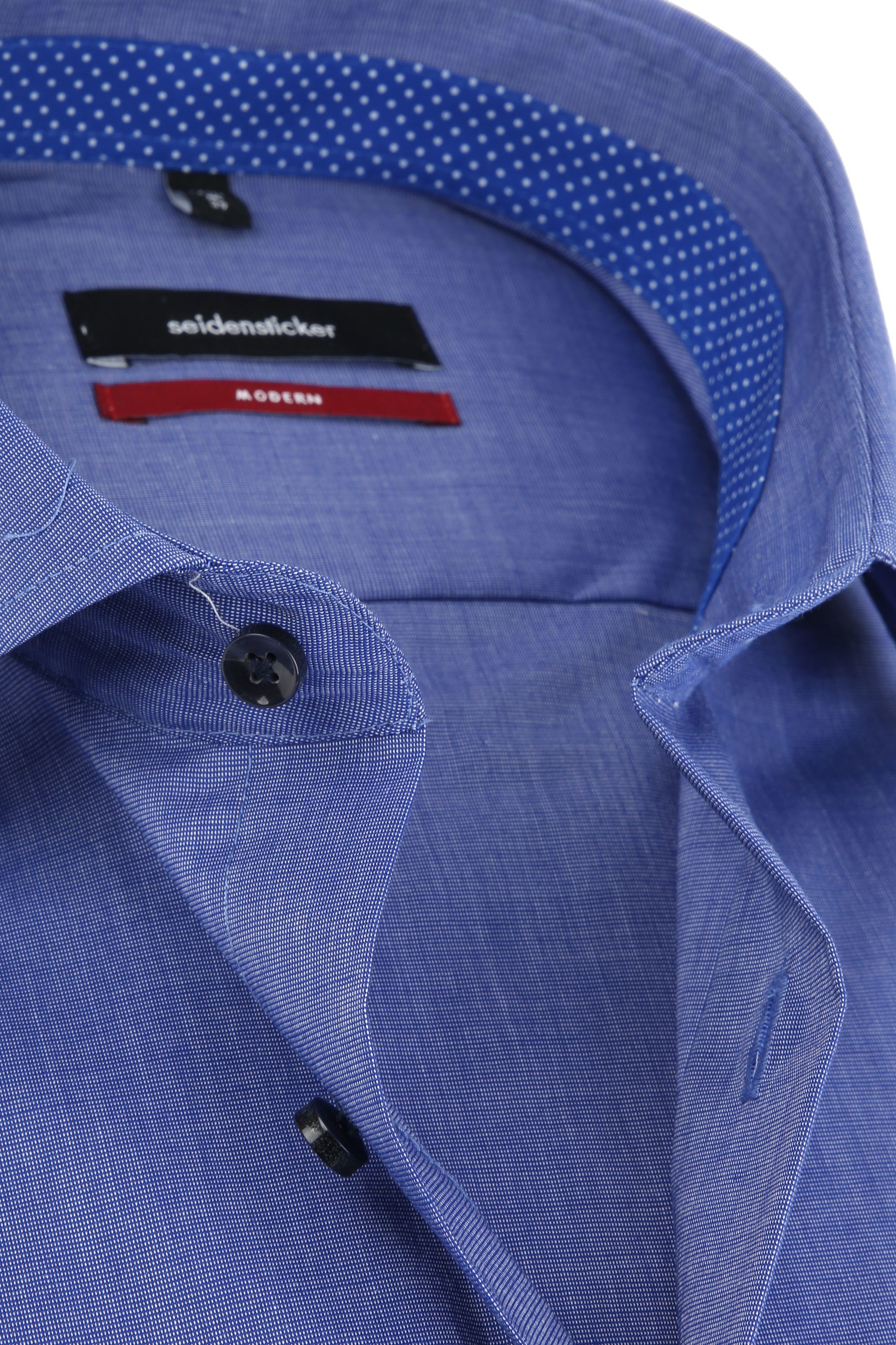 Seidensticker Overhemd Blauw foto 1