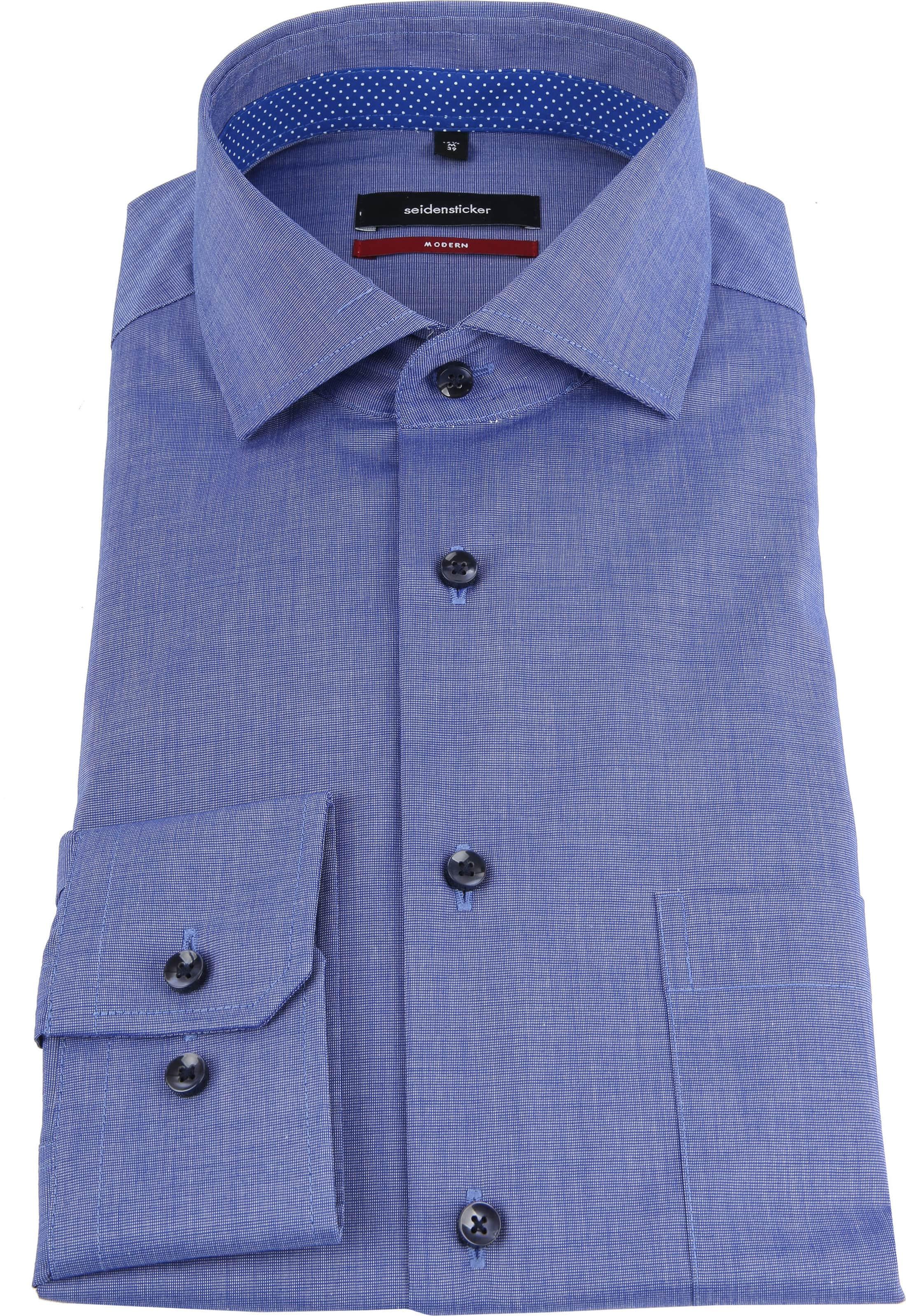 Seidensticker Overhemd Blauw foto 2