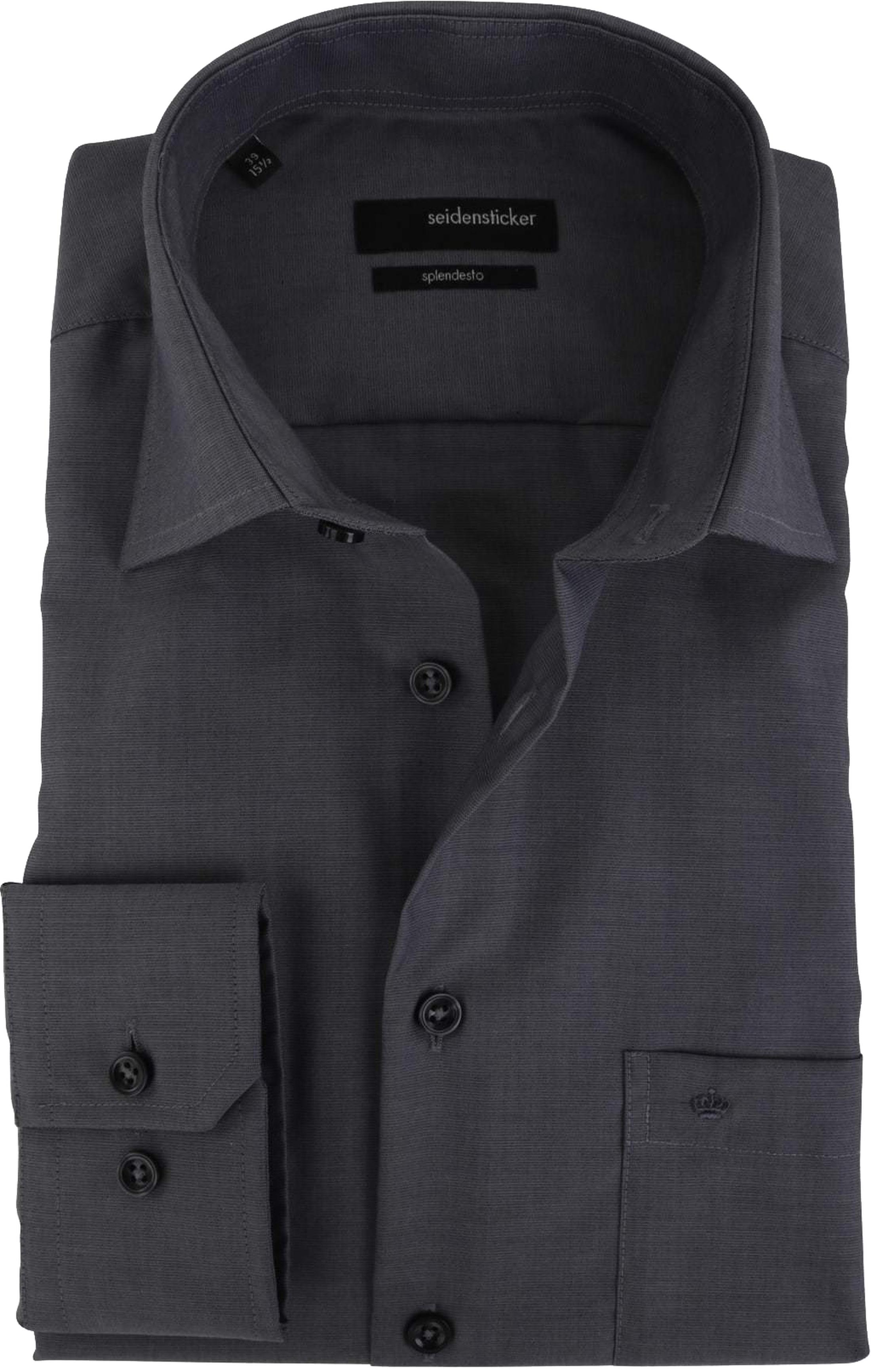 Seidensticker Overhemd Comfort Fit Antraciet foto 0