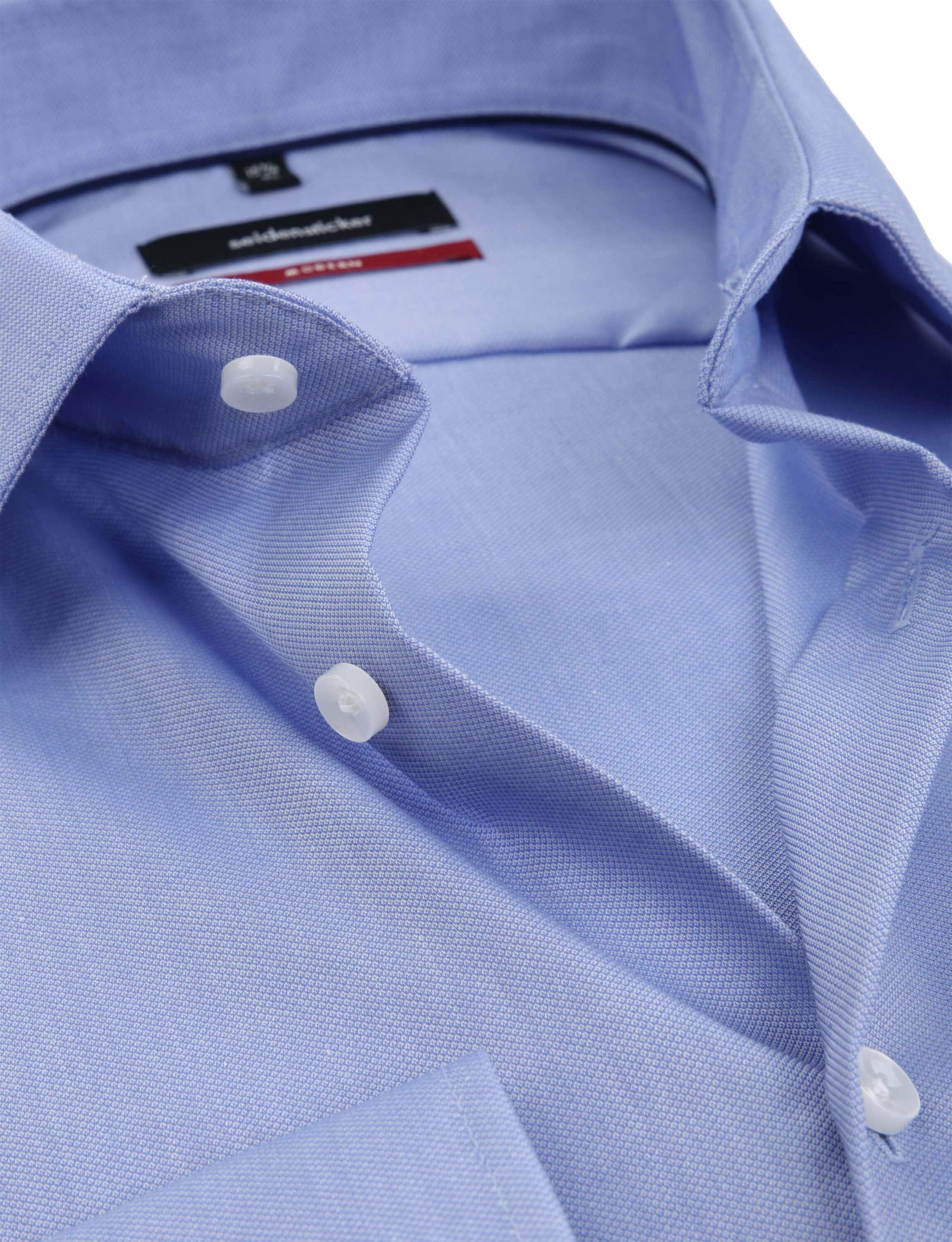 Seidensticker Overhemd MF Blauw foto 1