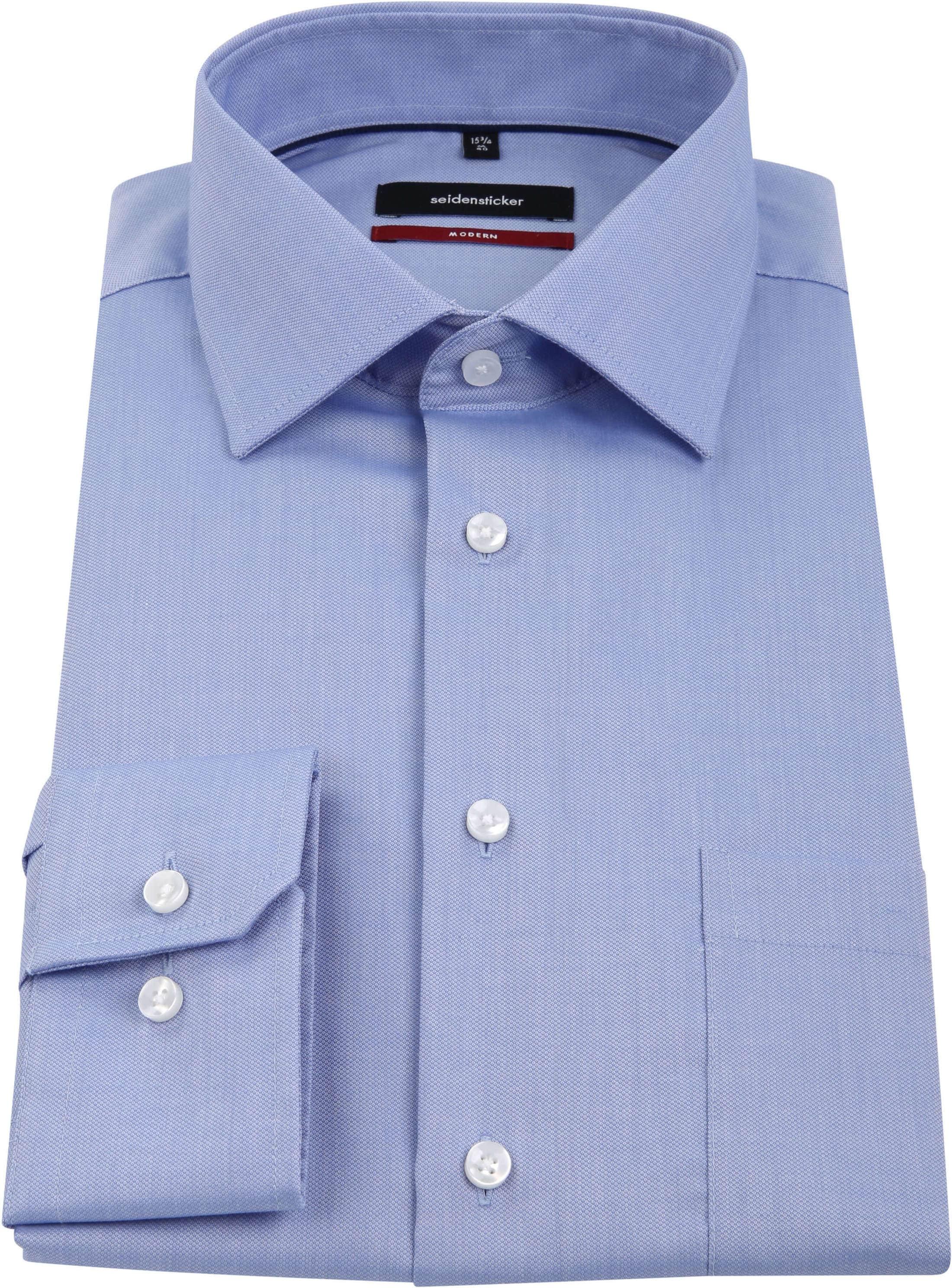 Seidensticker Overhemd MF Blauw foto 2