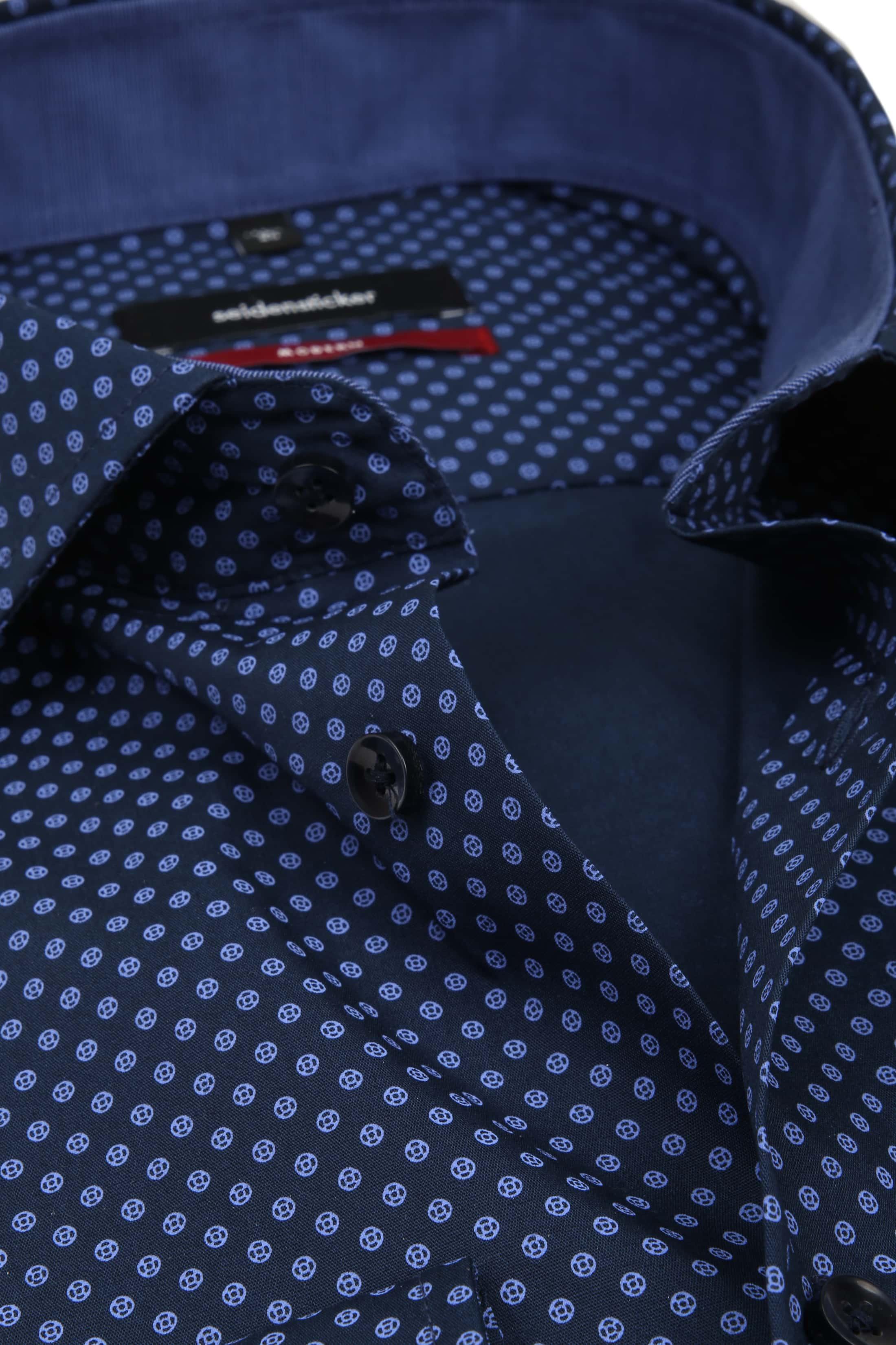 Seidensticker Overhemd MF Navy Dessin foto 1