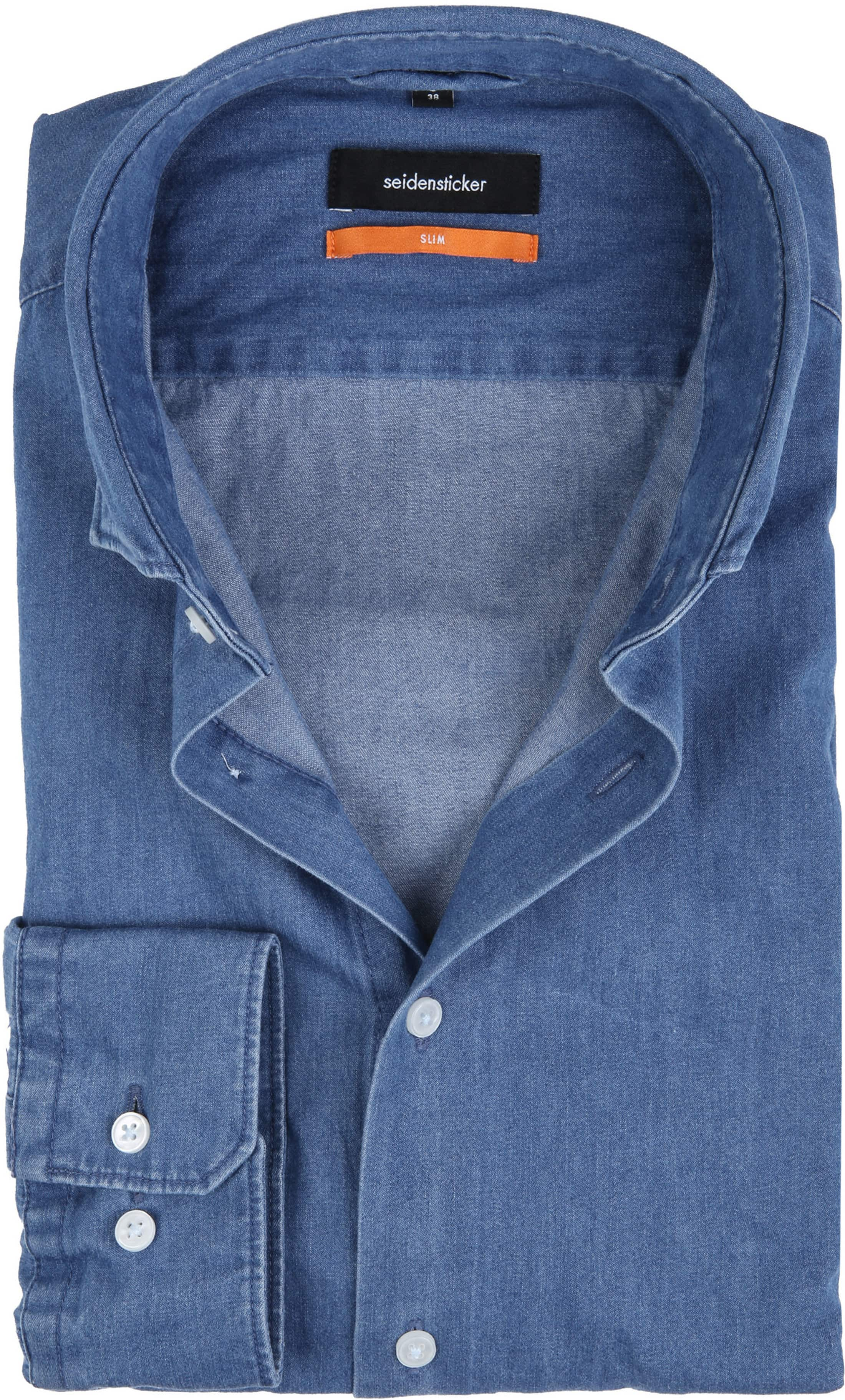 Seidensticker Overhemd SF Denim Blue foto 0