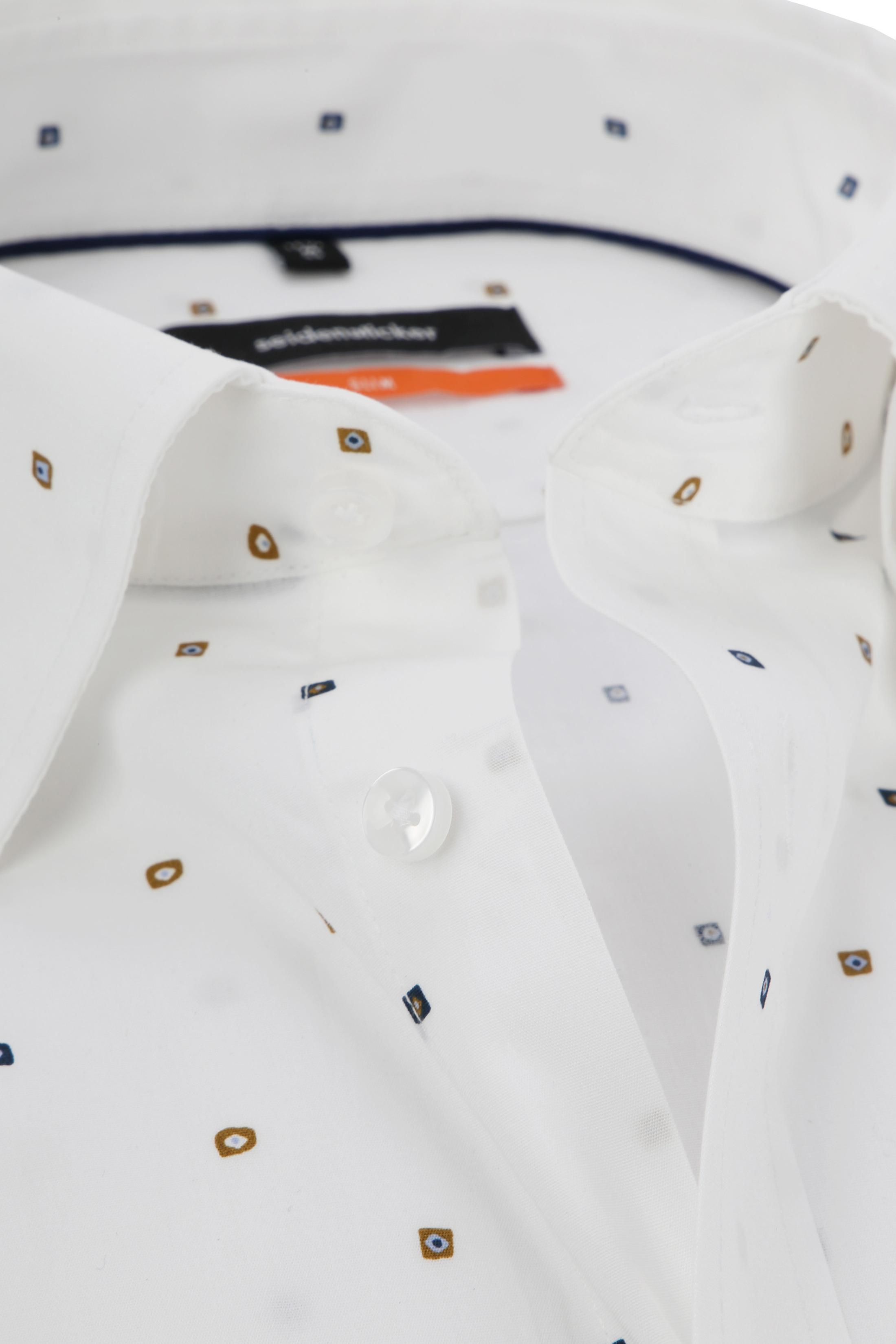 Seidensticker Overhemd SF Print Wit foto 1