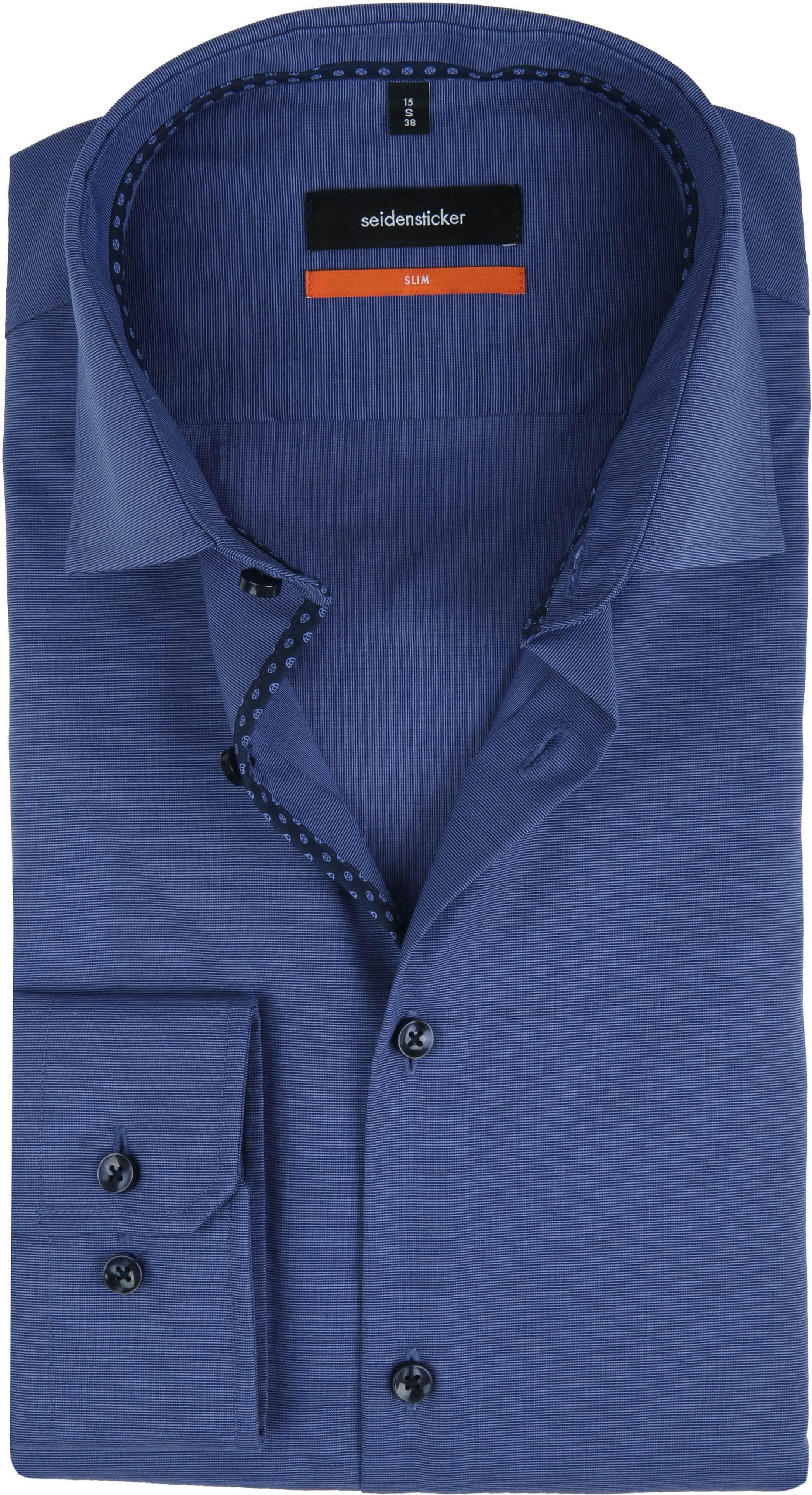 Seidensticker Overhemd Slim-Fit Navy foto 0