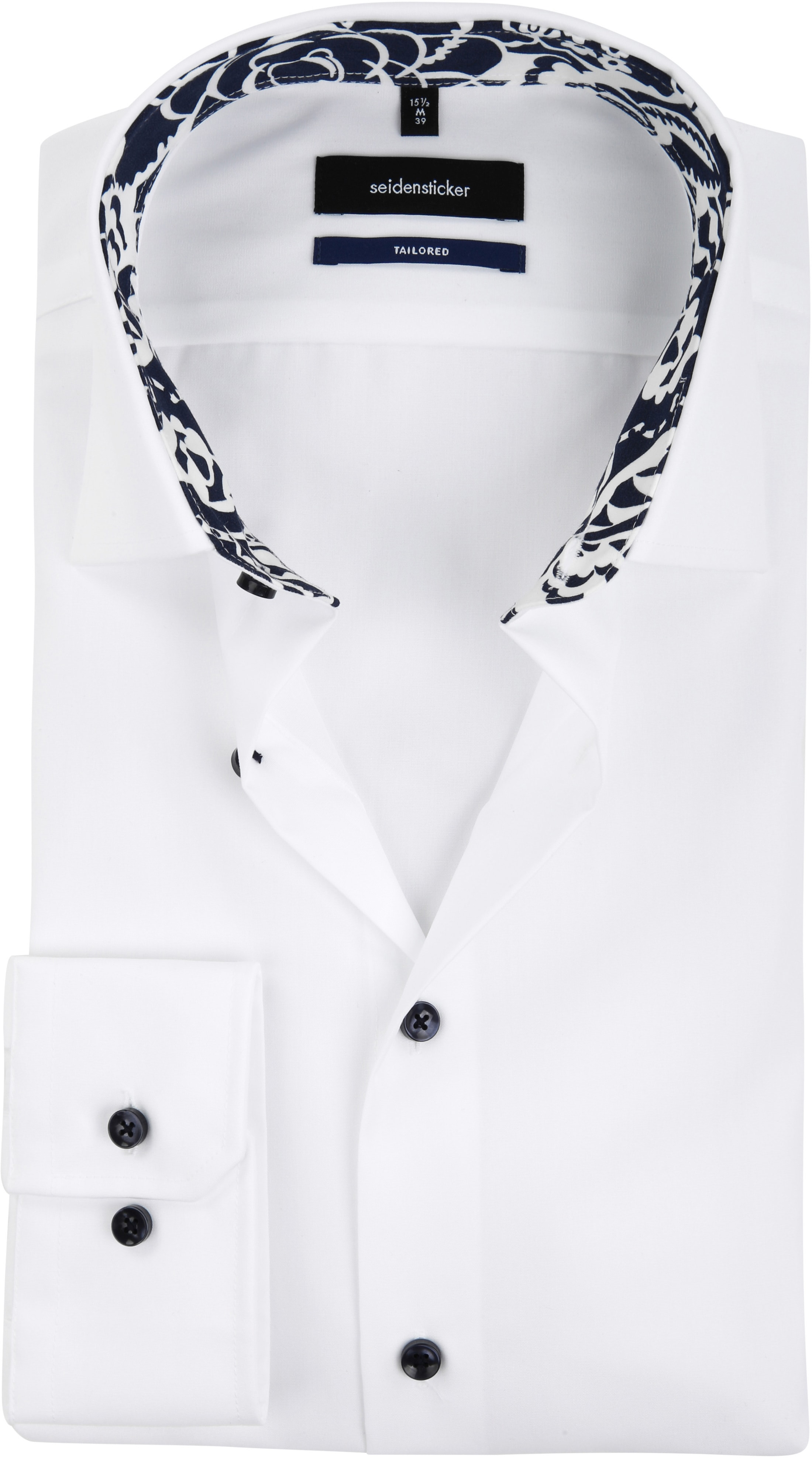 Tailored Fit Overhemd.Seidensticker Overhemd Tailor Fit Wit 01 232816 Online Bestellen