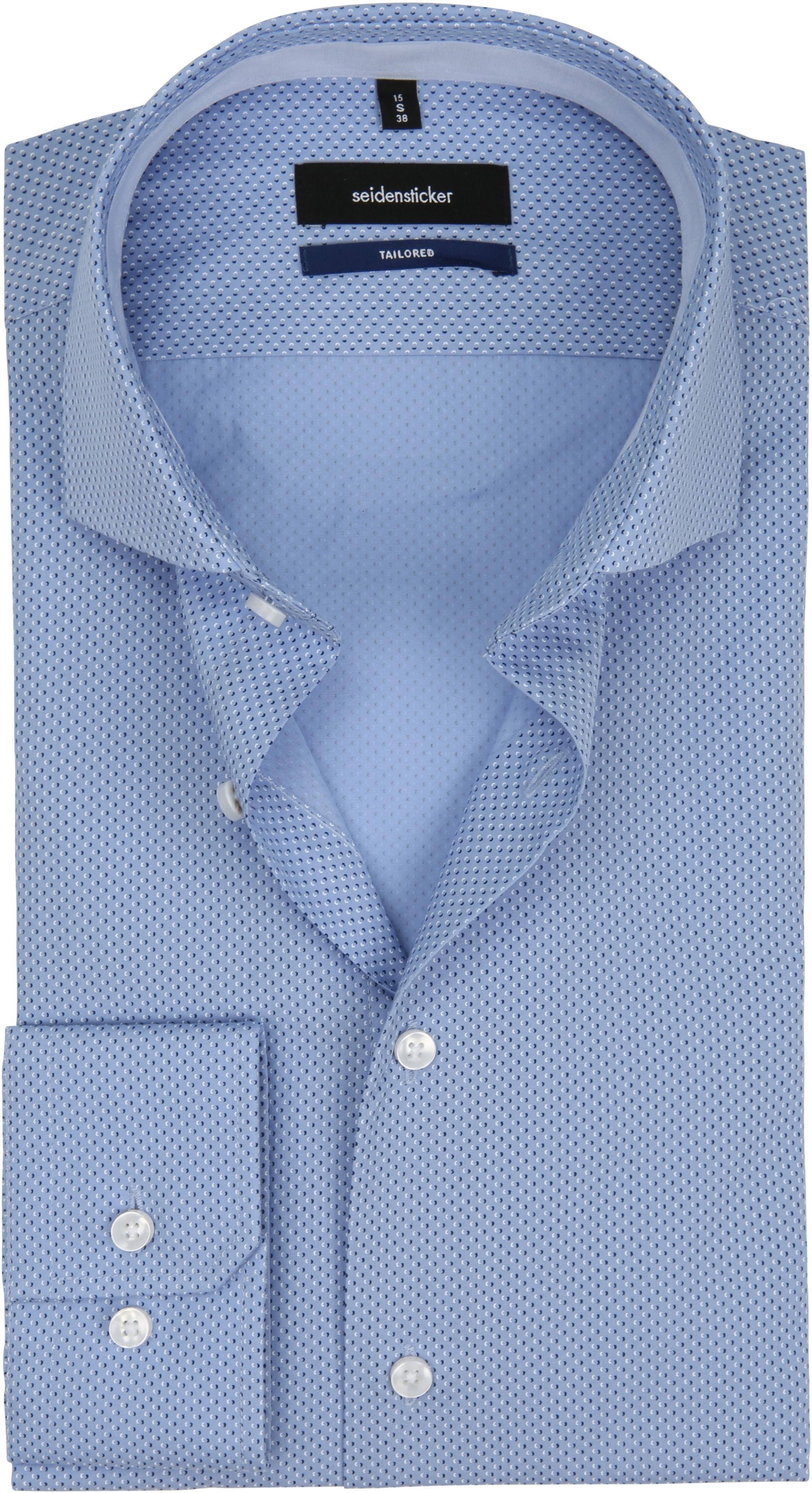 Seidensticker Overhemd TF Blauw Dessin foto 0