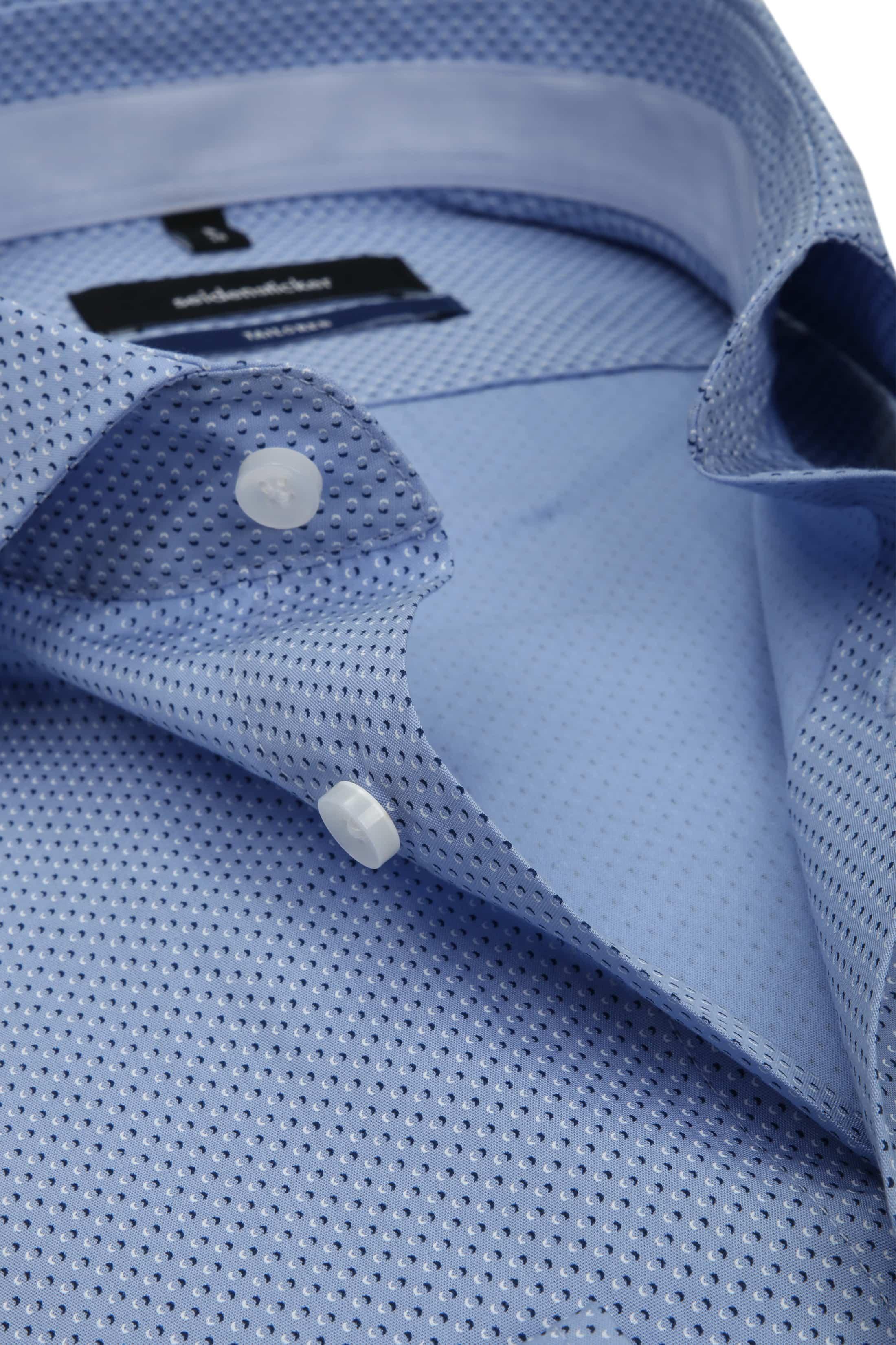 Seidensticker Overhemd TF Blauw Dessin foto 1