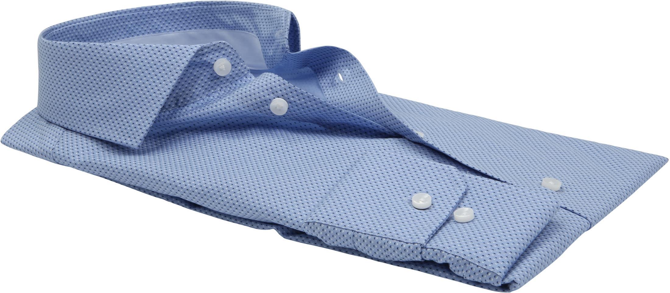 Seidensticker Overhemd TF Blauw Dessin foto 2