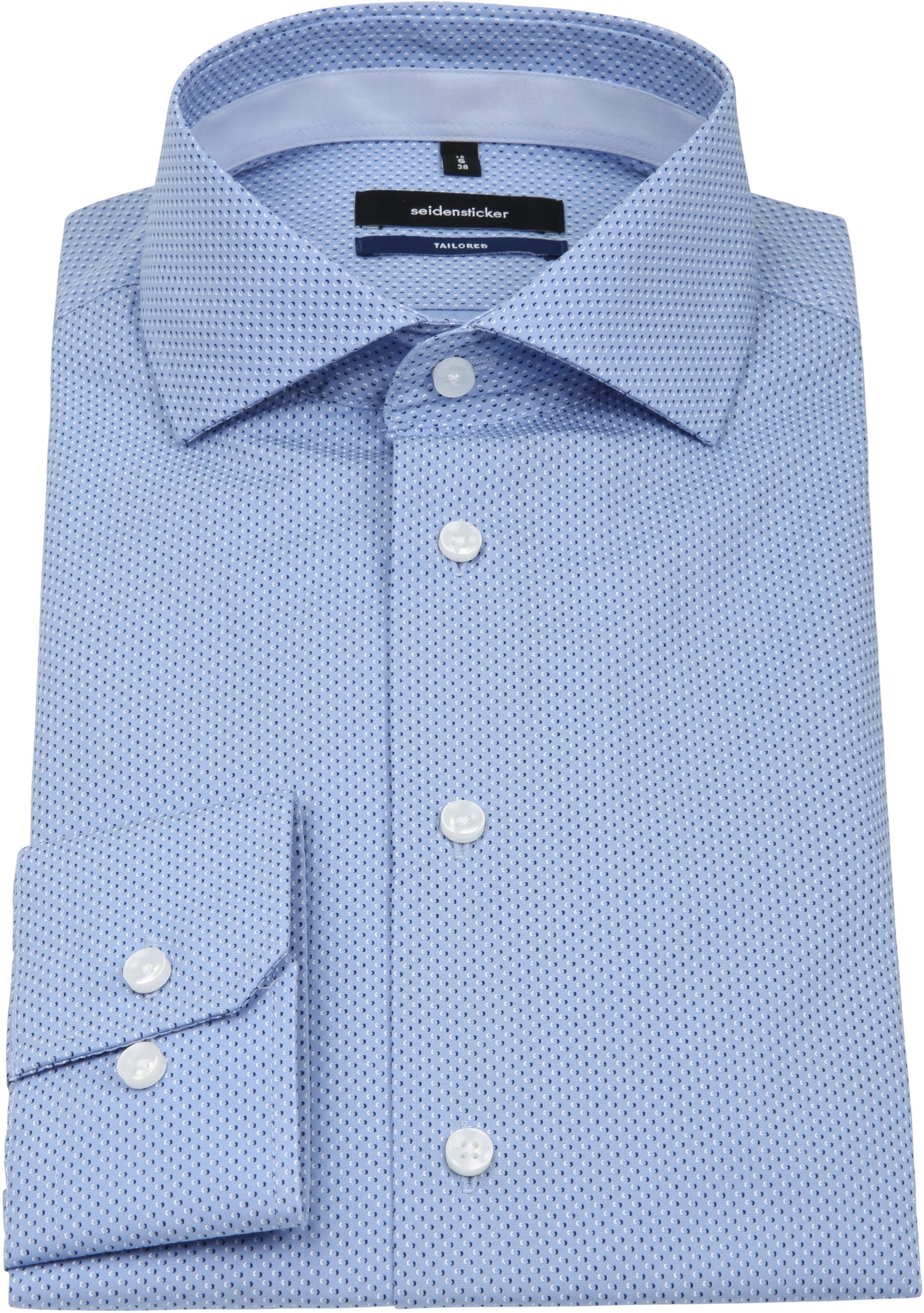 Seidensticker Overhemd TF Blauw Dessin foto 3