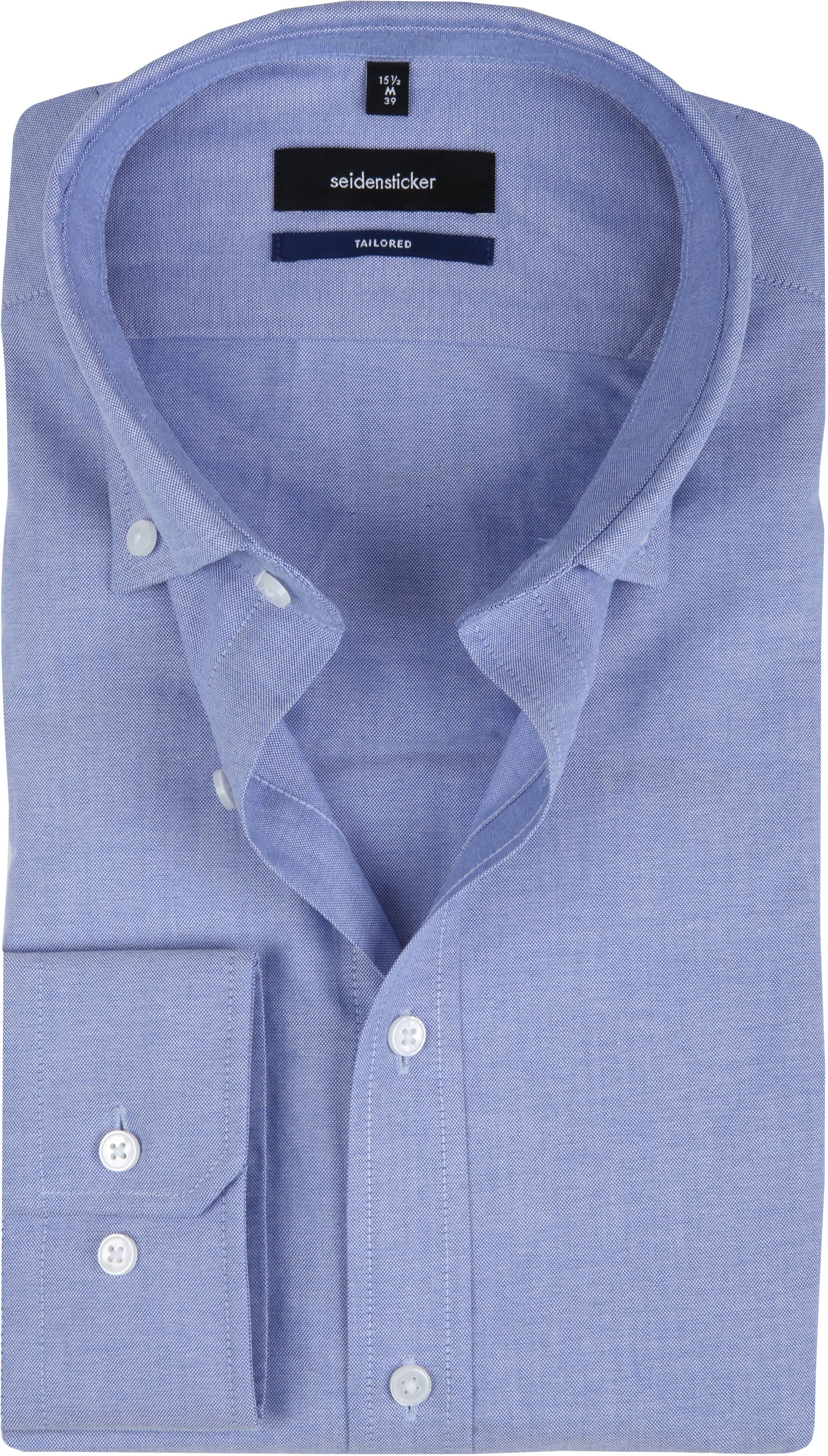 Seidensticker Overhemd TF Button Down Blue foto 0
