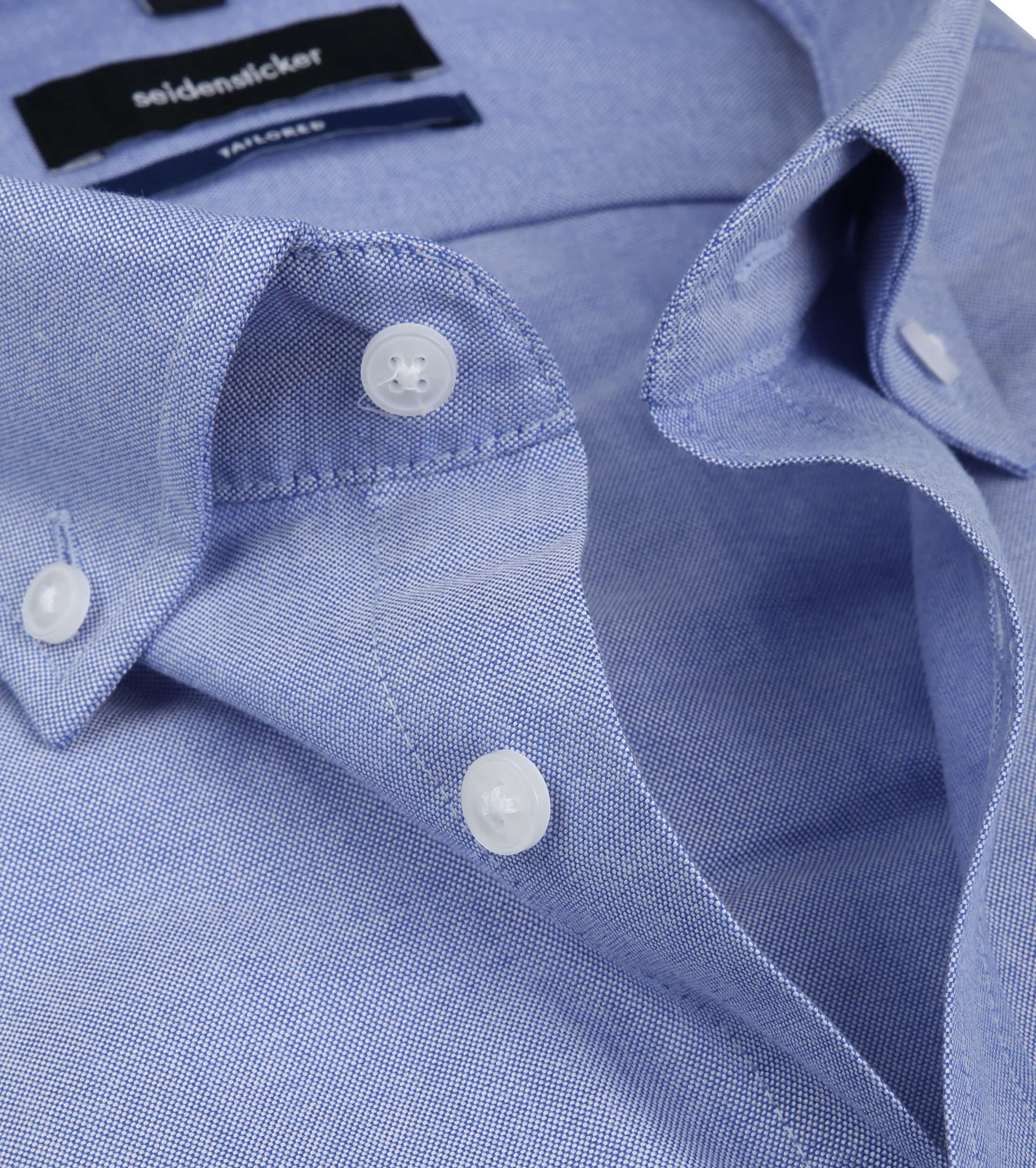Seidensticker Overhemd TF Button Down Blue foto 1