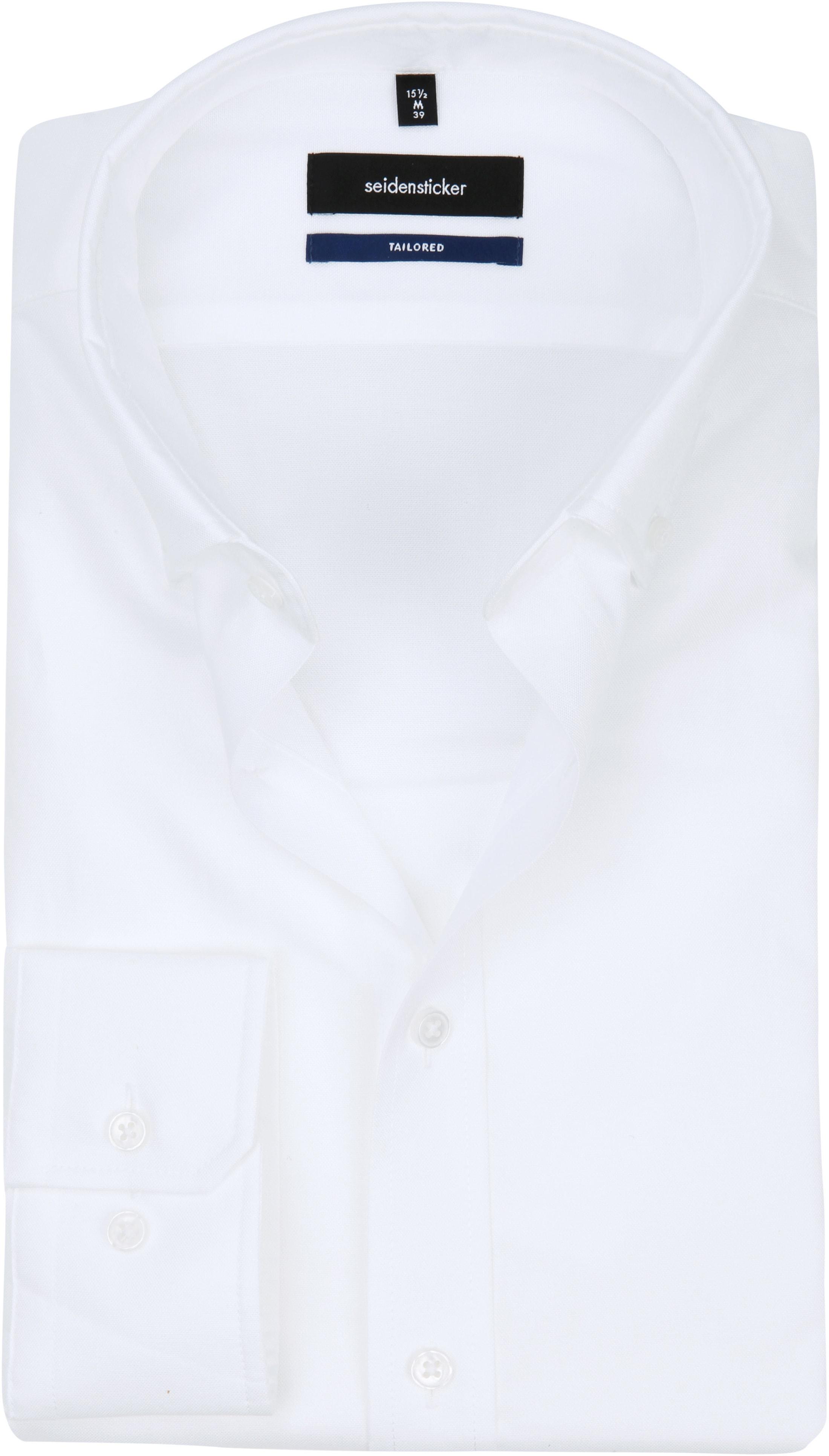 Seidensticker Overhemd TF Button Down Wit foto 0