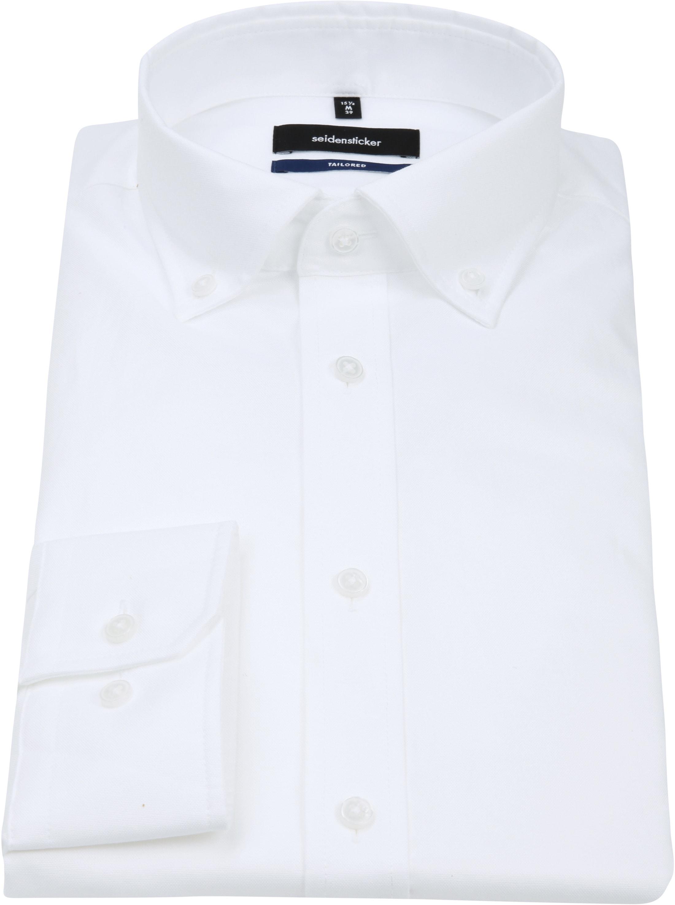 Seidensticker Overhemd TF Button Down Wit foto 3