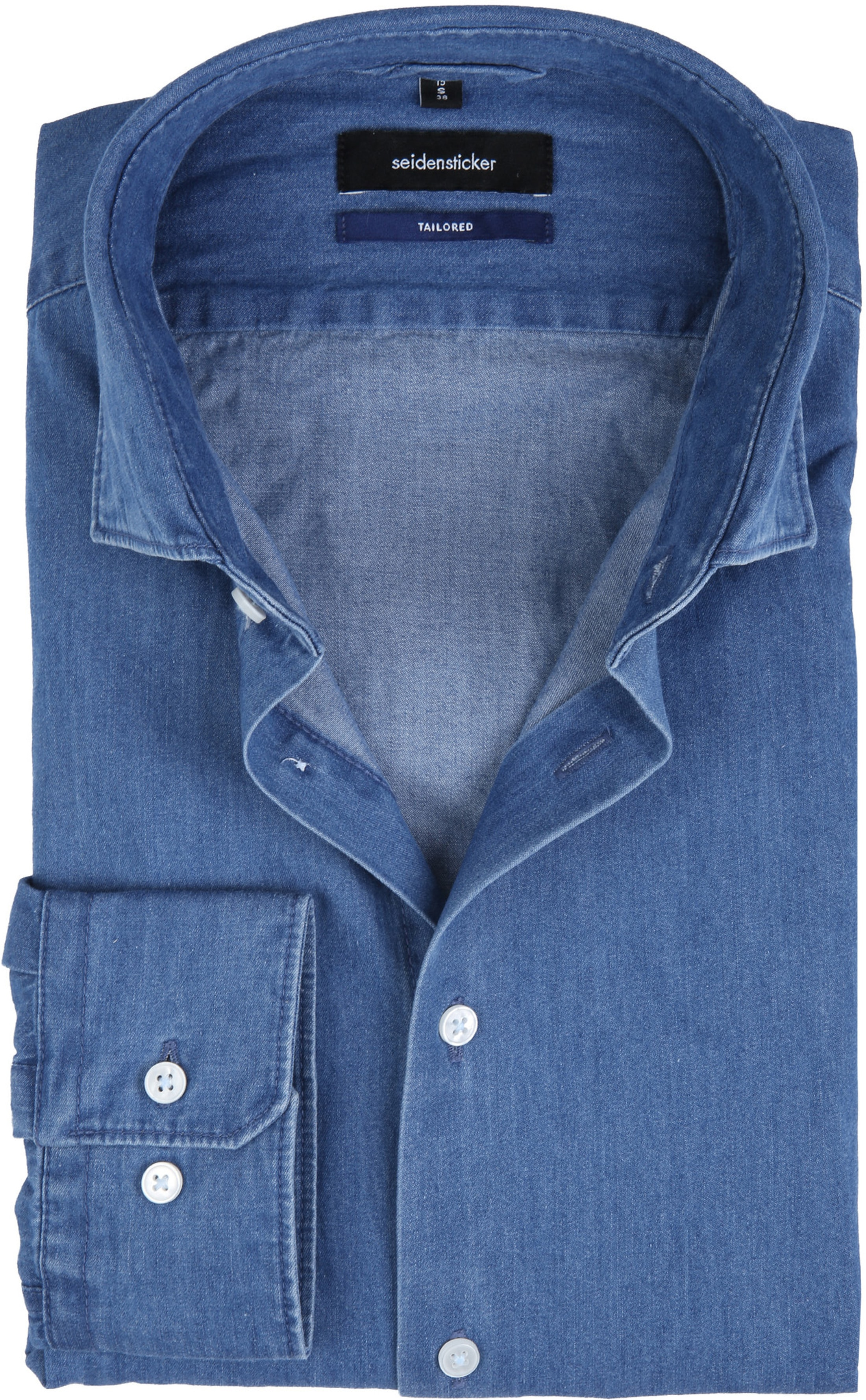 Seidensticker Overhemd TF Denim Blue foto 0