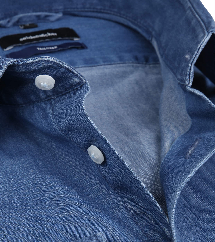 Seidensticker Overhemd TF Denim Blue foto 1
