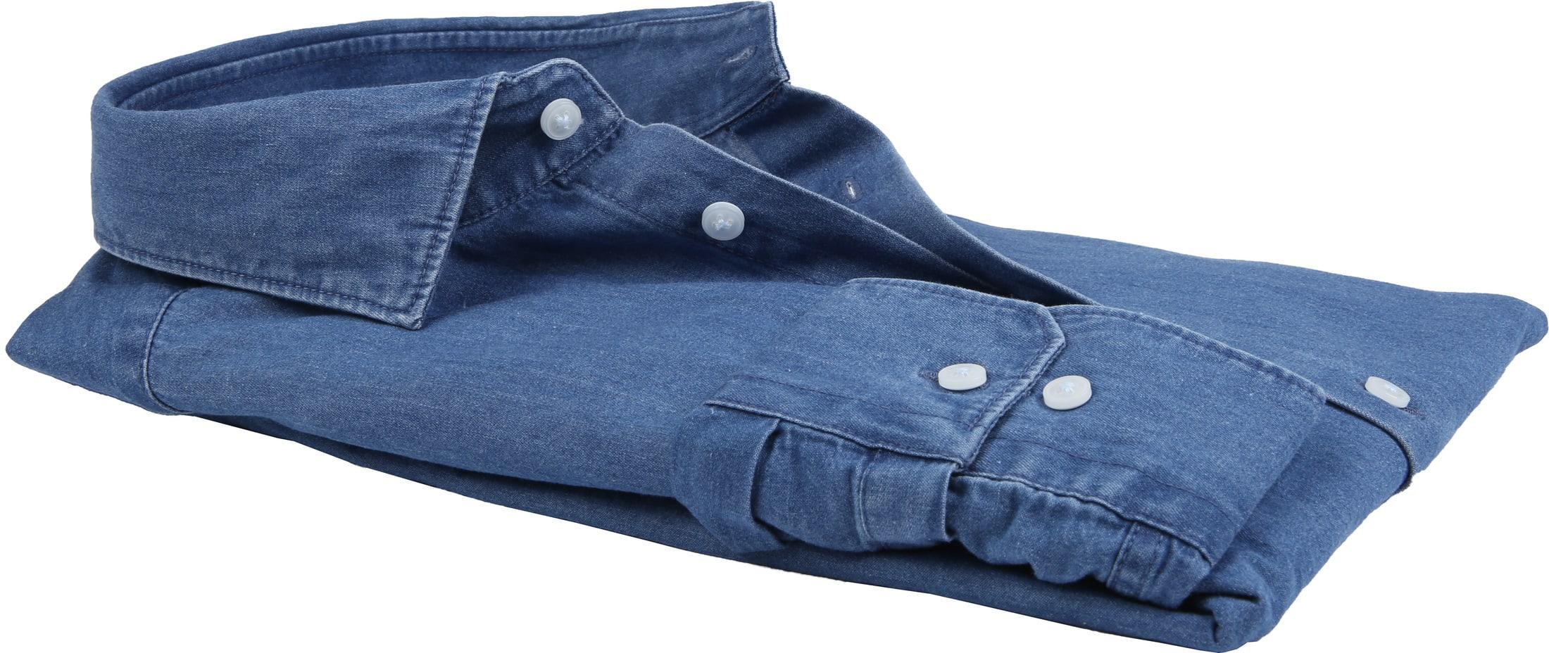 Seidensticker Overhemd TF Denim Blue foto 2