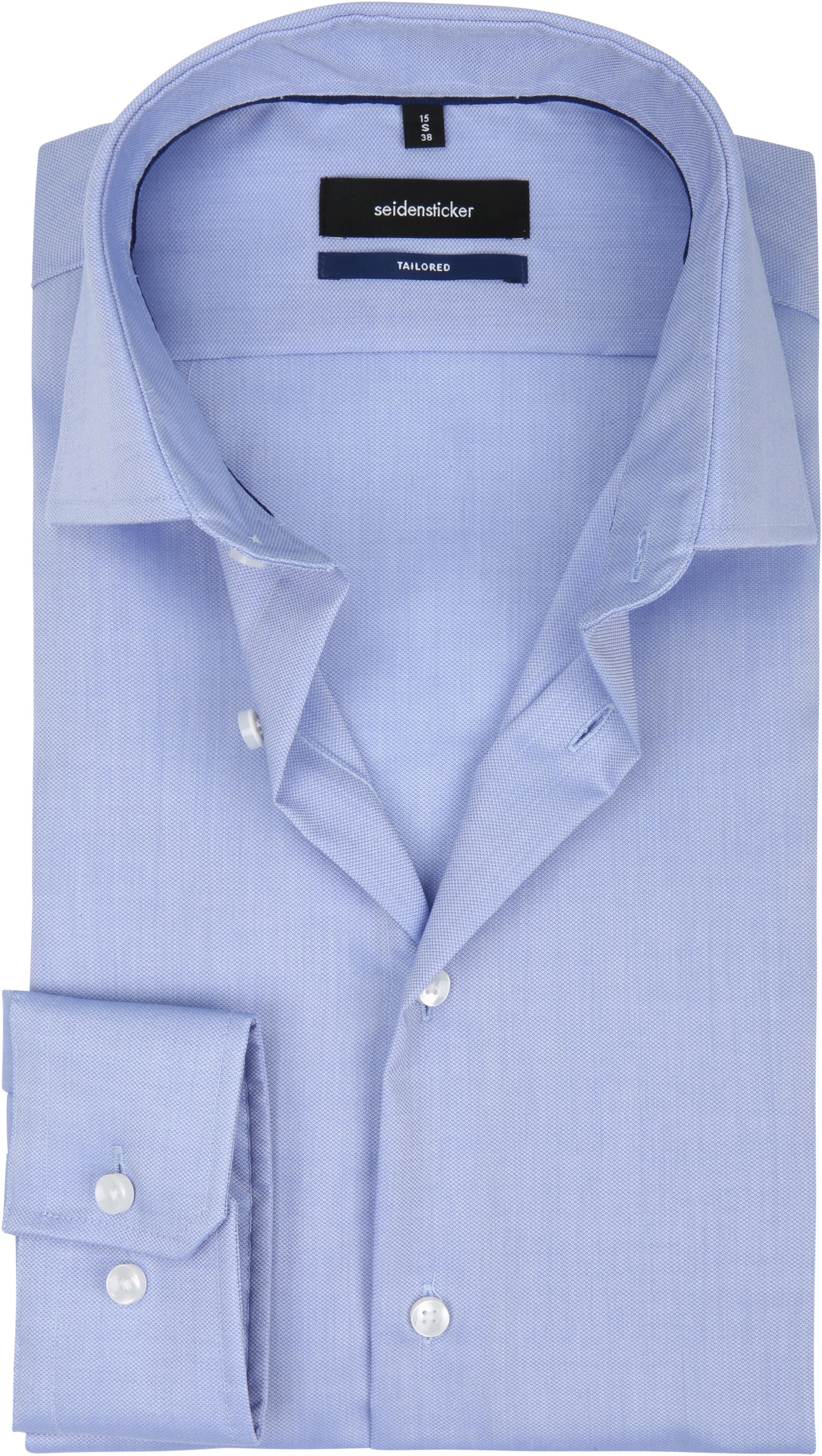 Seidensticker Overhemd TF Dessin Blauw foto 0