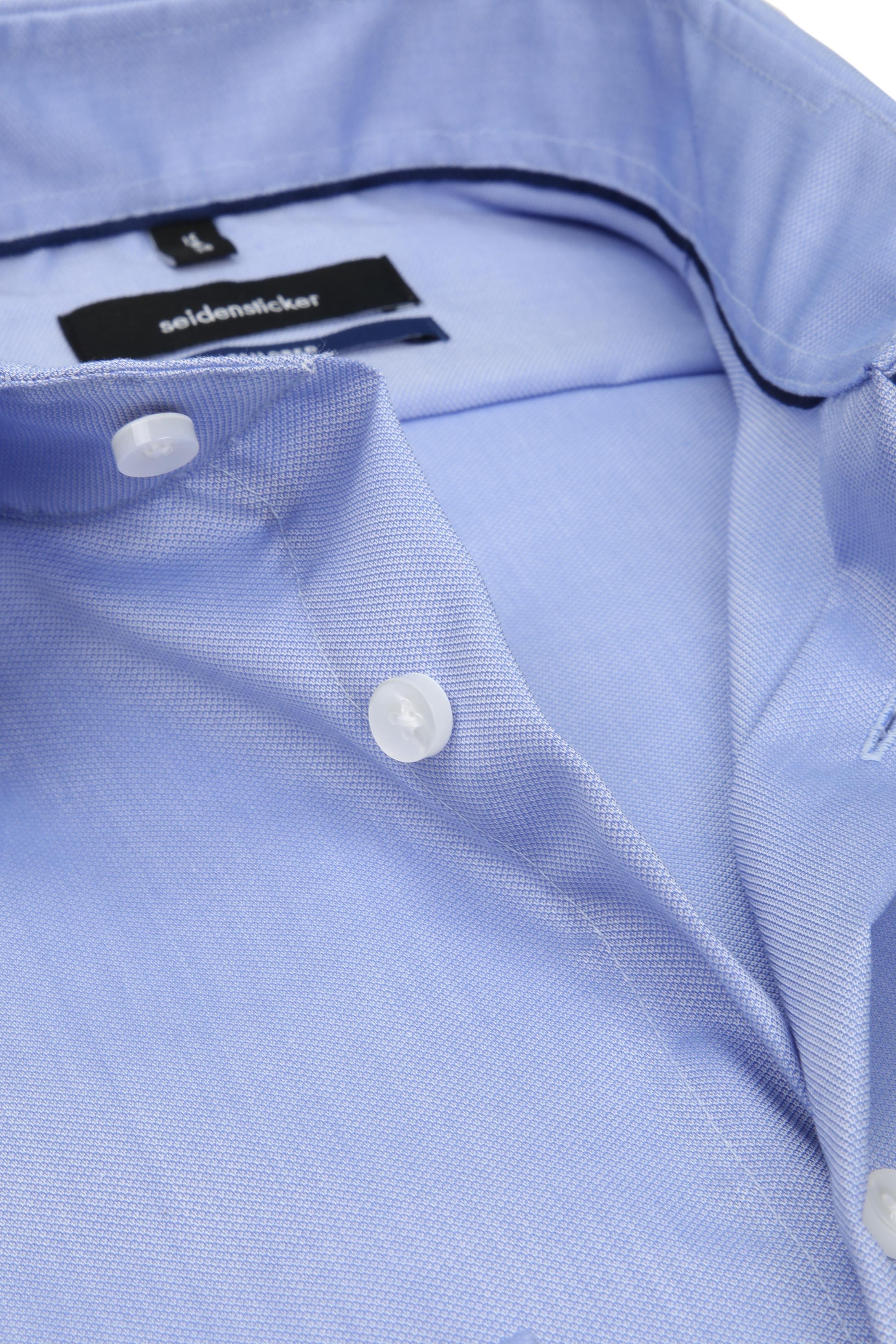 Seidensticker Overhemd TF Dessin Blauw foto 1