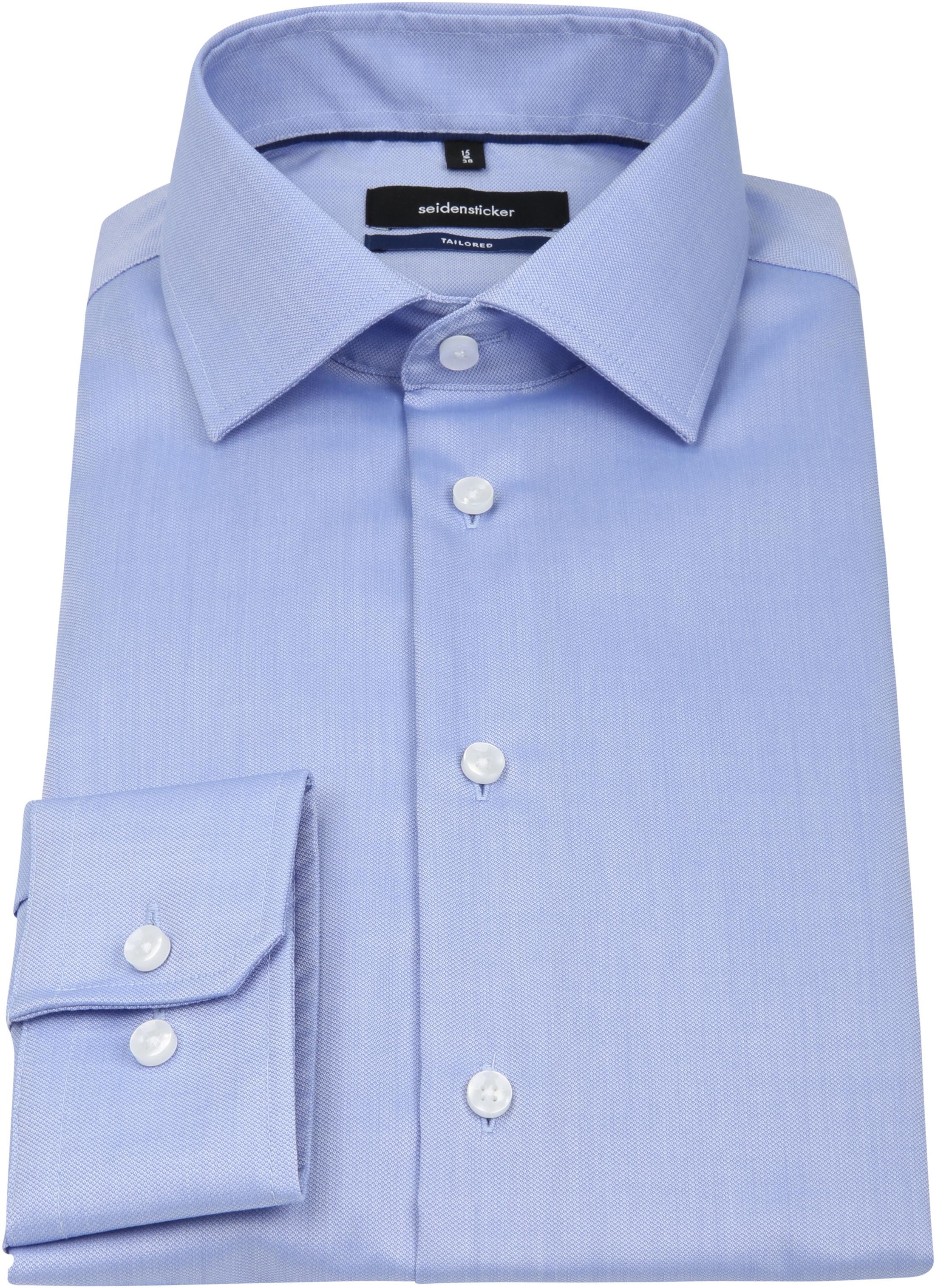 Seidensticker Overhemd TF Dessin Blauw foto 3