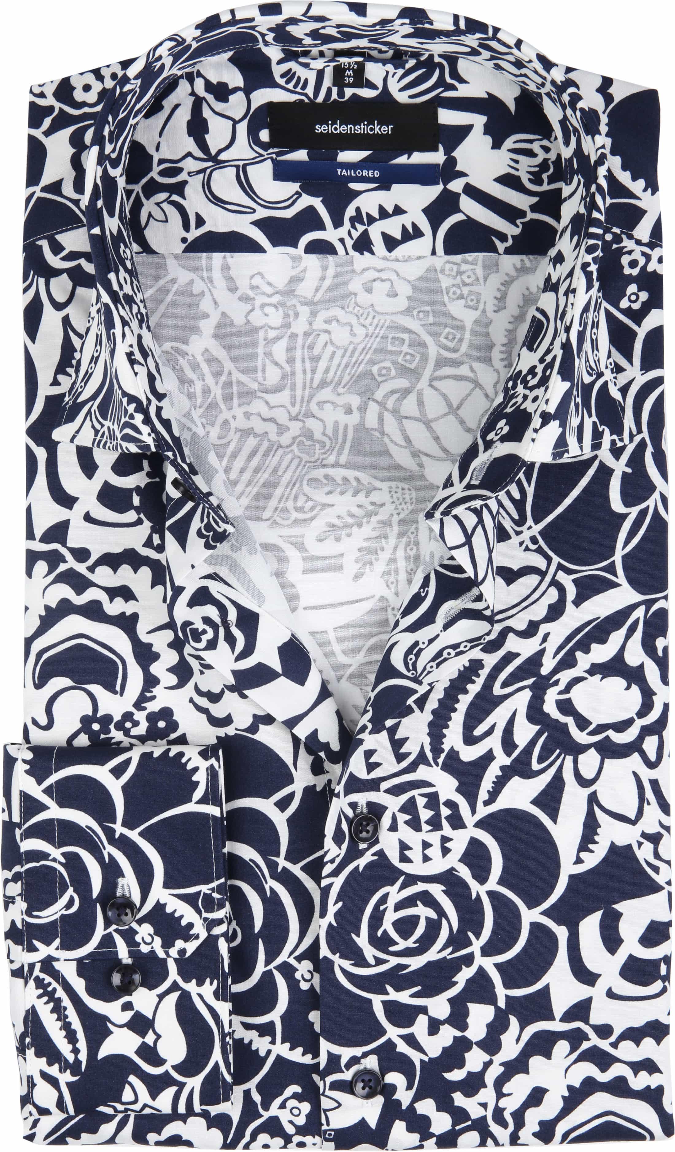 Seidensticker Overhemd TF Flower Navy foto 0