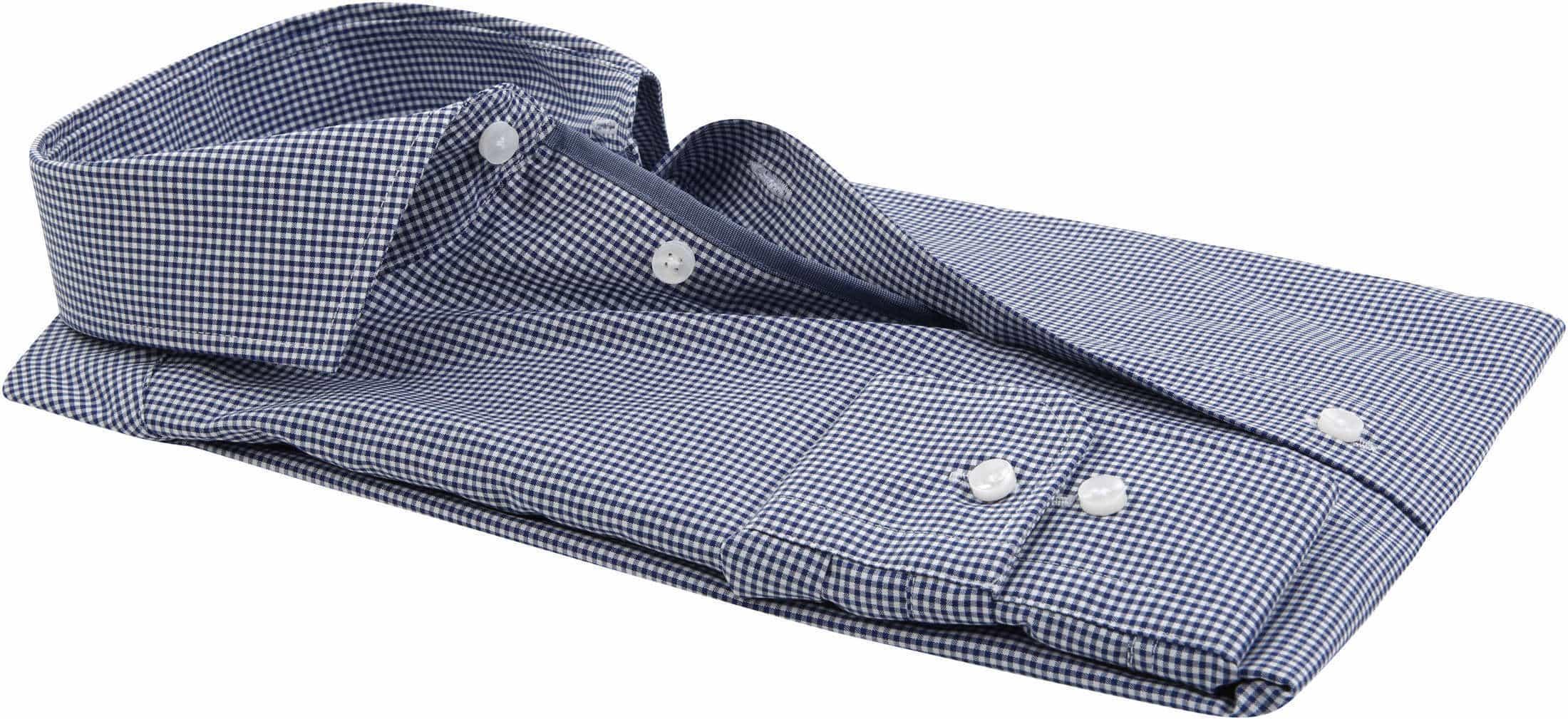 Seidensticker Overhemd TF Navy Ruit foto 3
