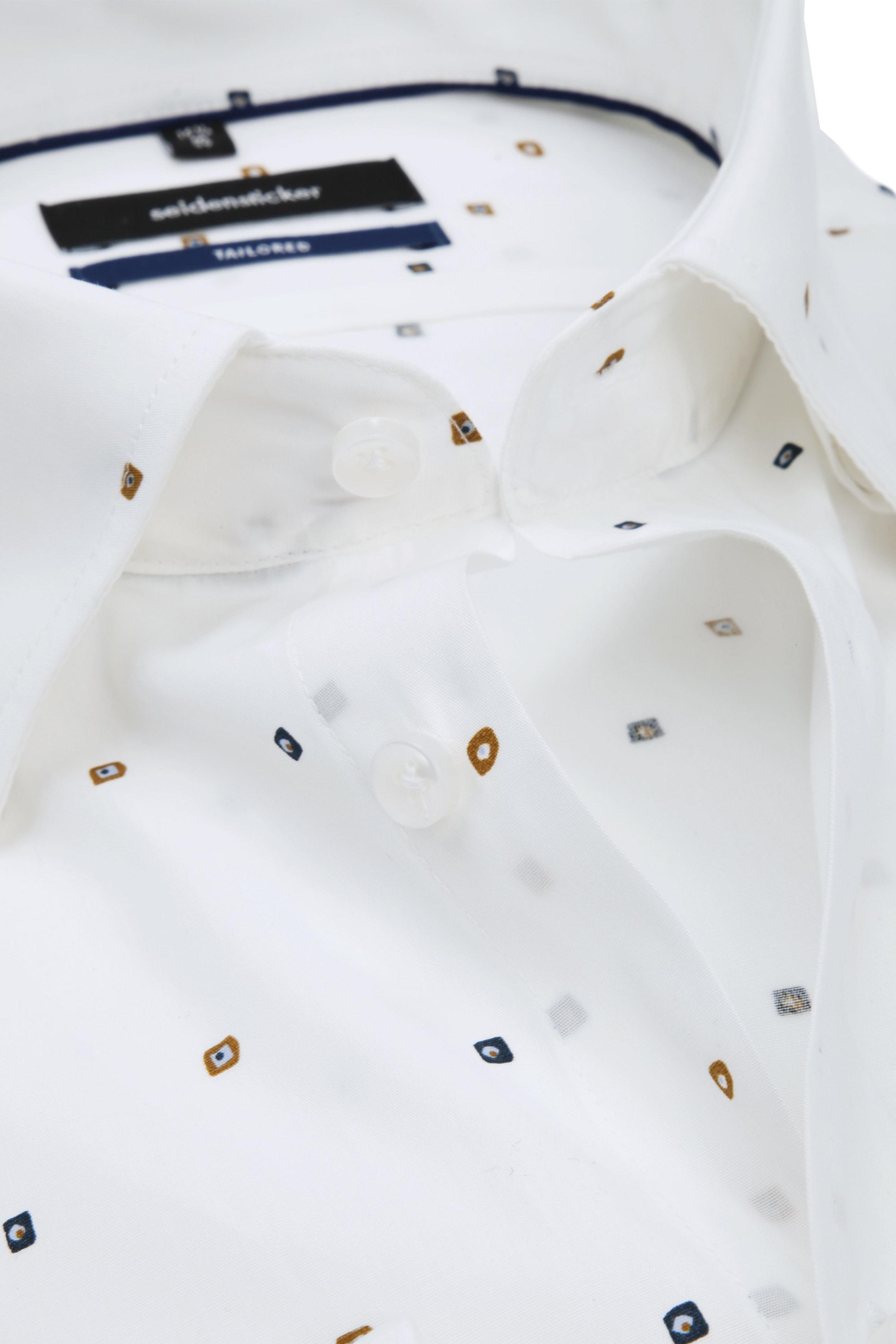 Seidensticker Overhemd TF Print Wit foto 1