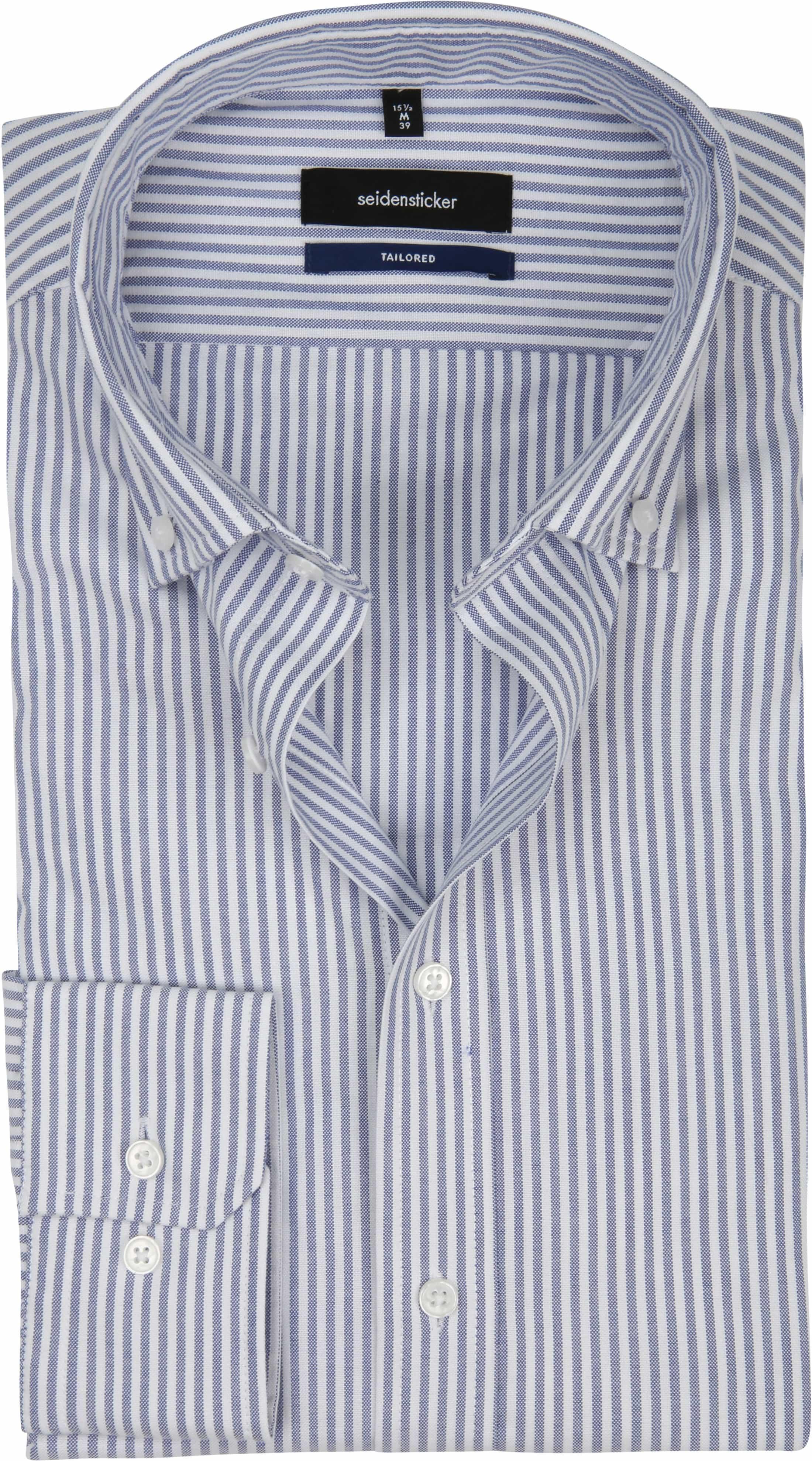 Seidensticker Overhemd TF Streep Blauw foto 0