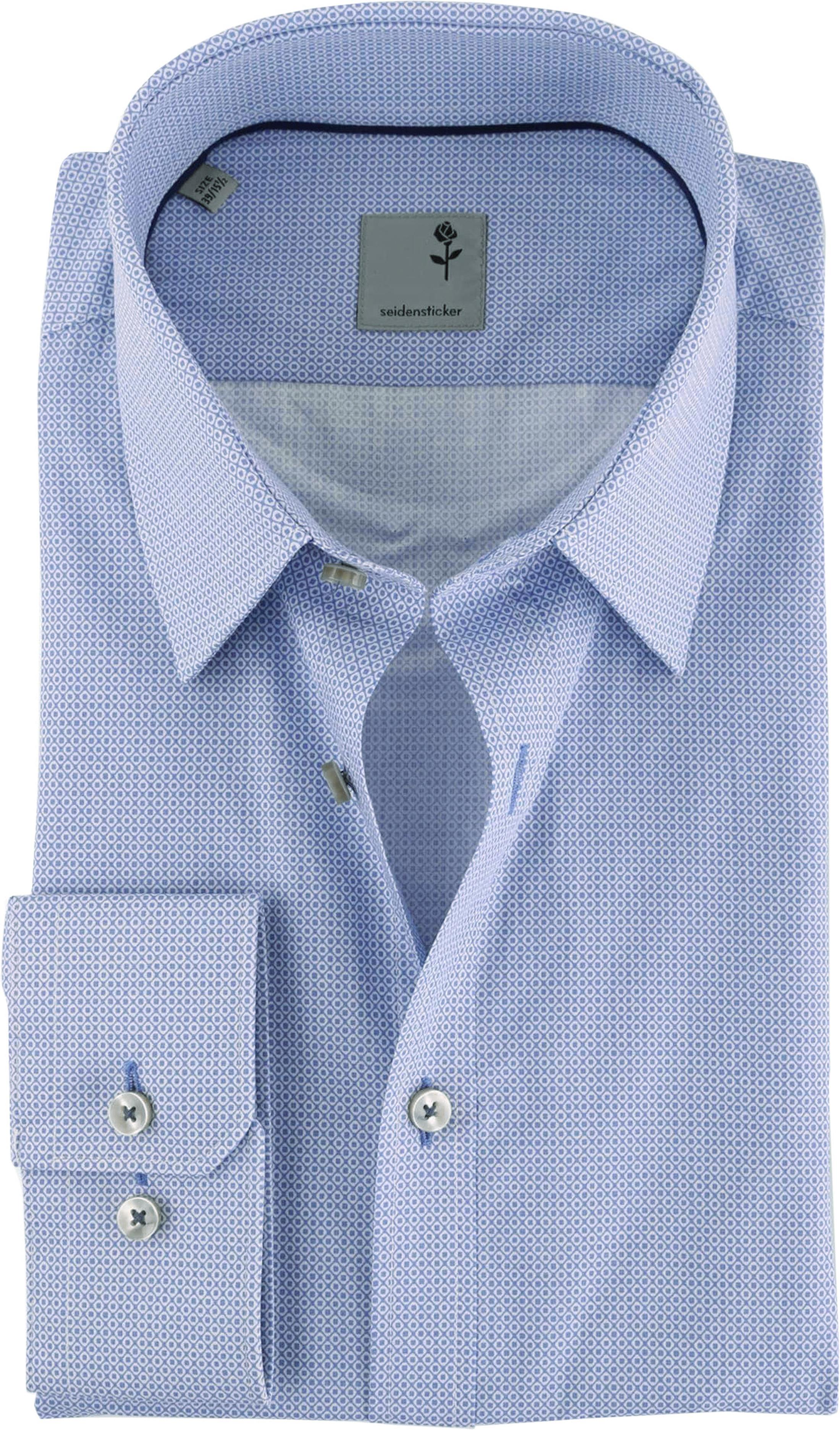 Seidensticker Slim Fit Shirt Blue Print foto 0