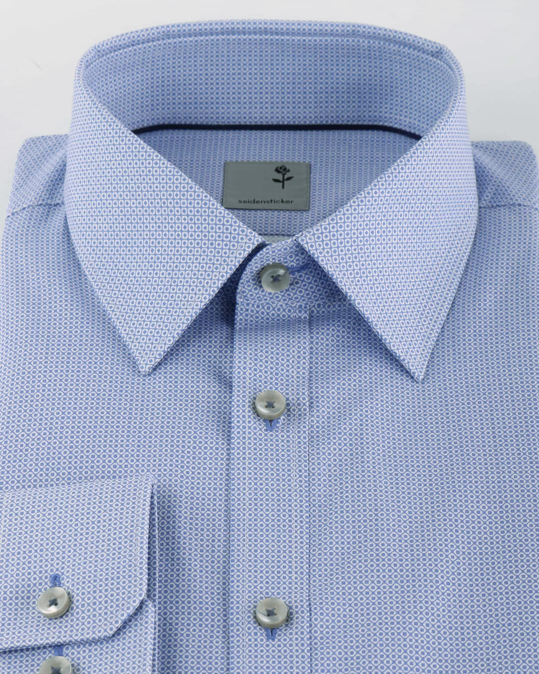 Seidensticker Slim Fit Shirt Blue Print foto 2