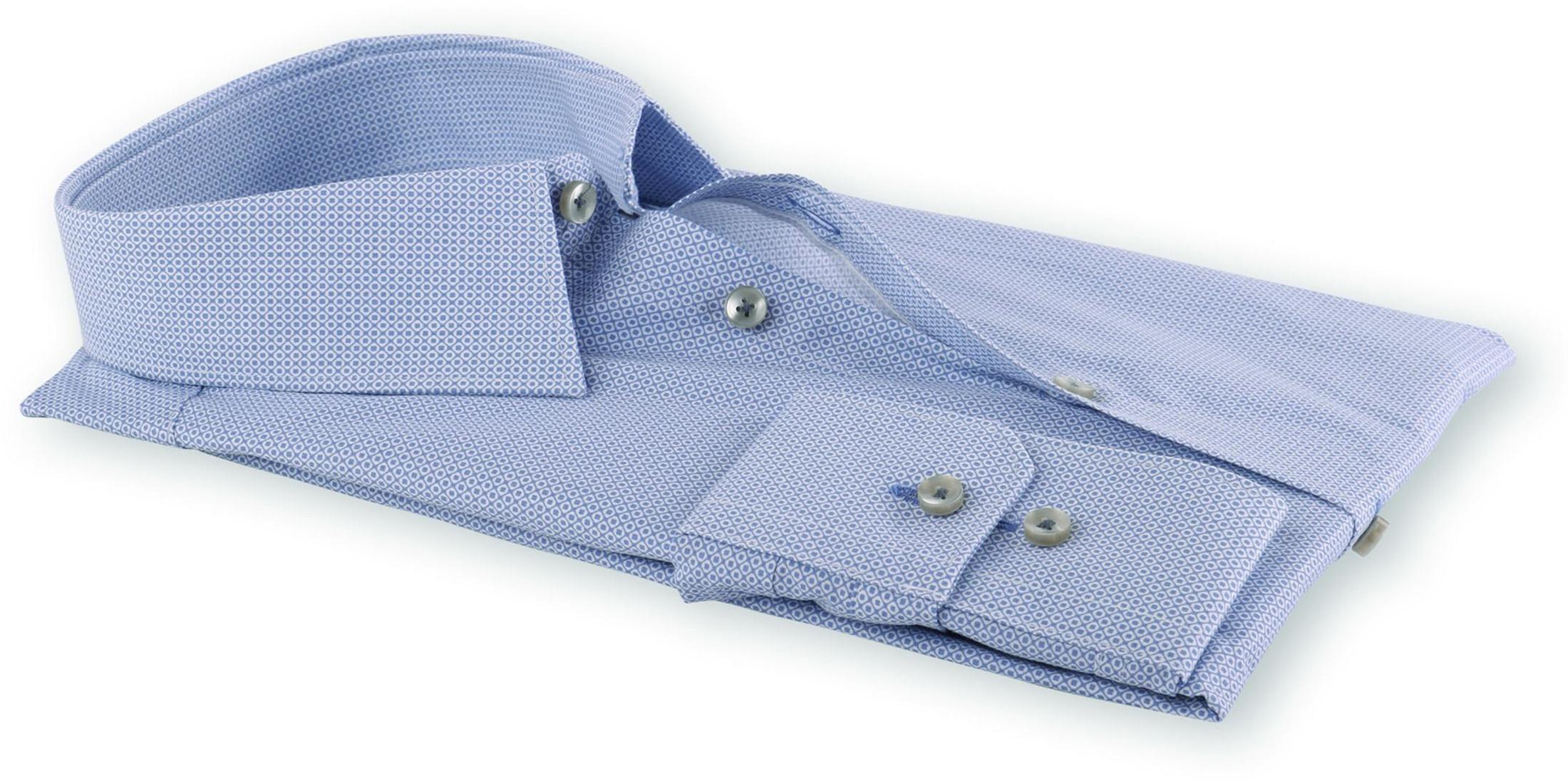 Seidensticker Slim Fit Shirt Blue Print foto 3