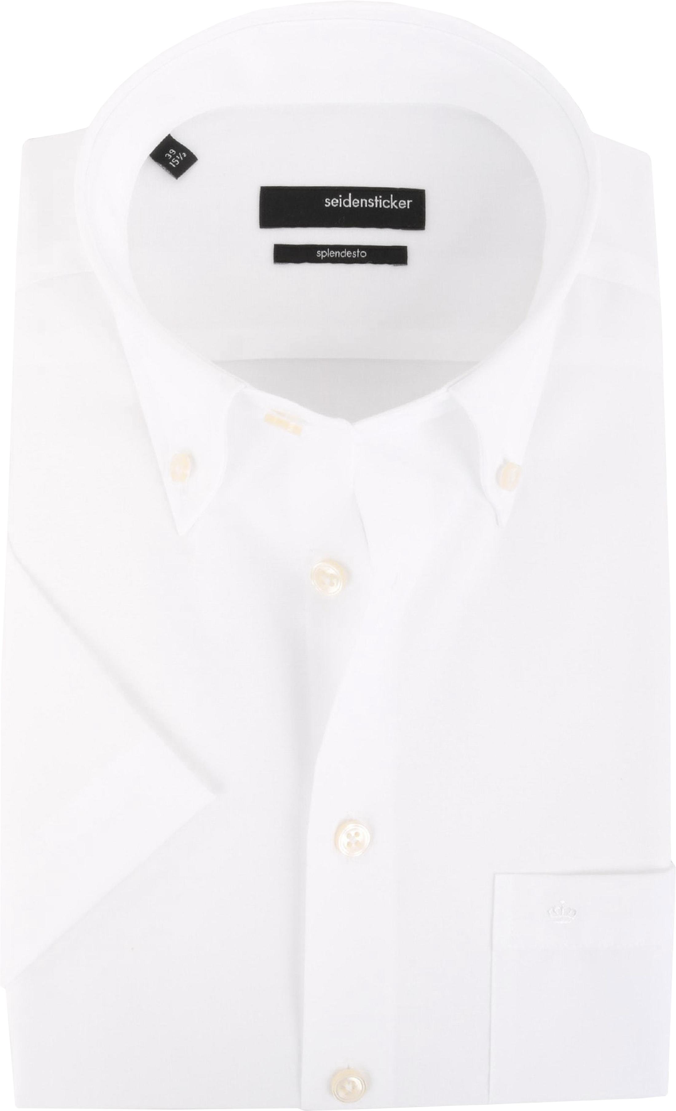 Seidensticker Splendesto Korte Mouw Overhemd Wit foto 0