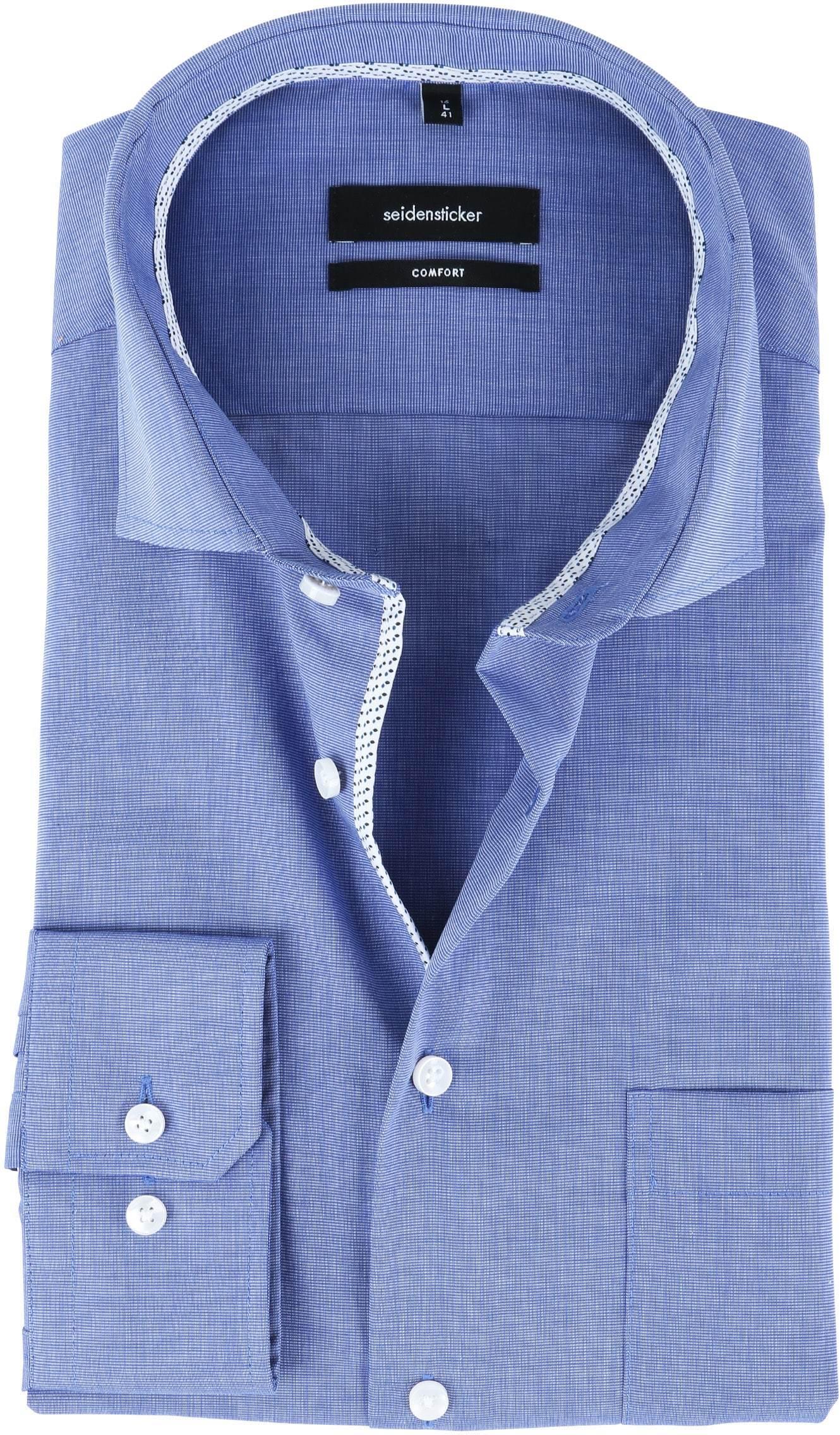 Seidensticker Strijkvrij Overhemd CF Blauw foto 0