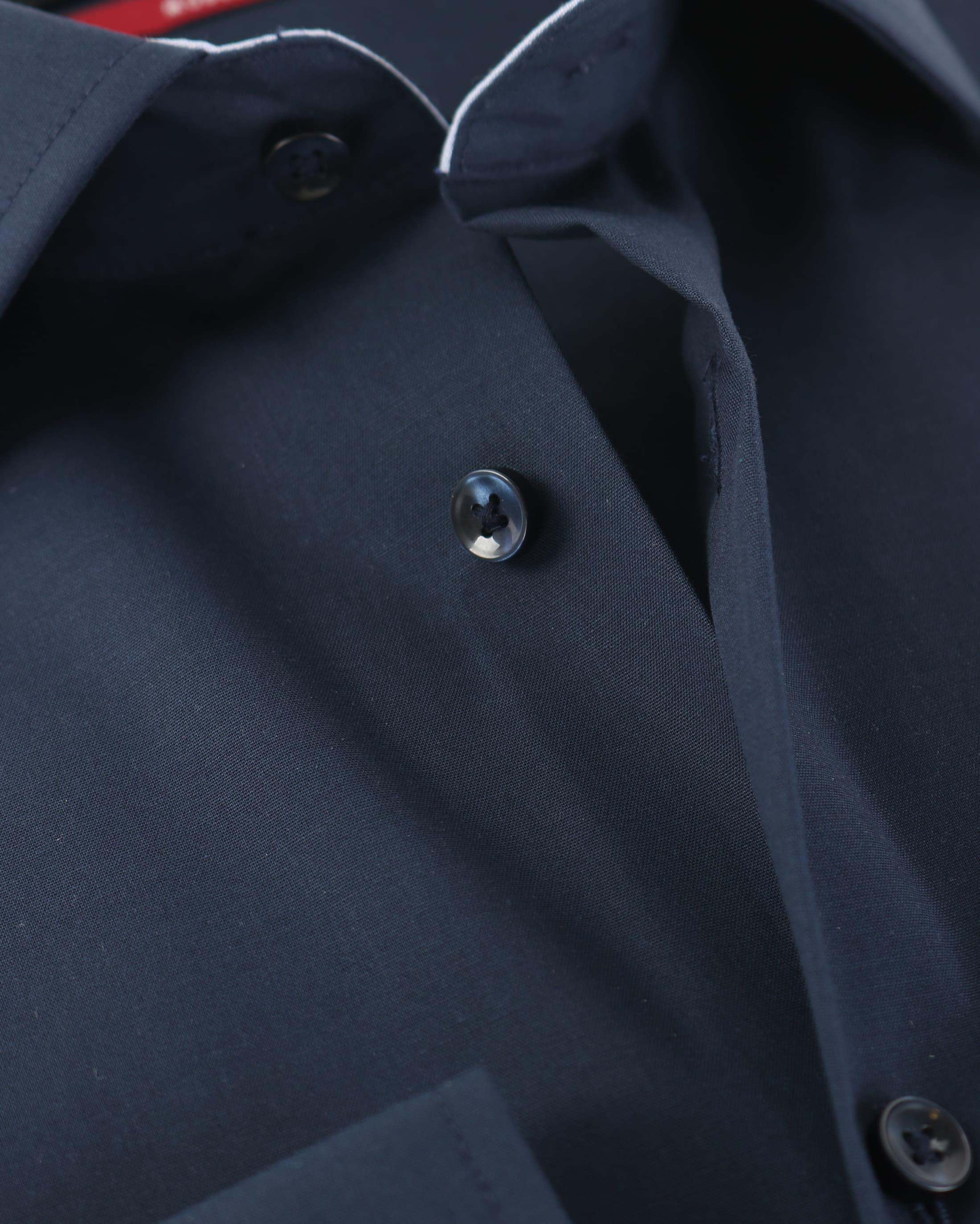 Seidensticker Strijkvrij Overhemd Donkerblauw foto 3