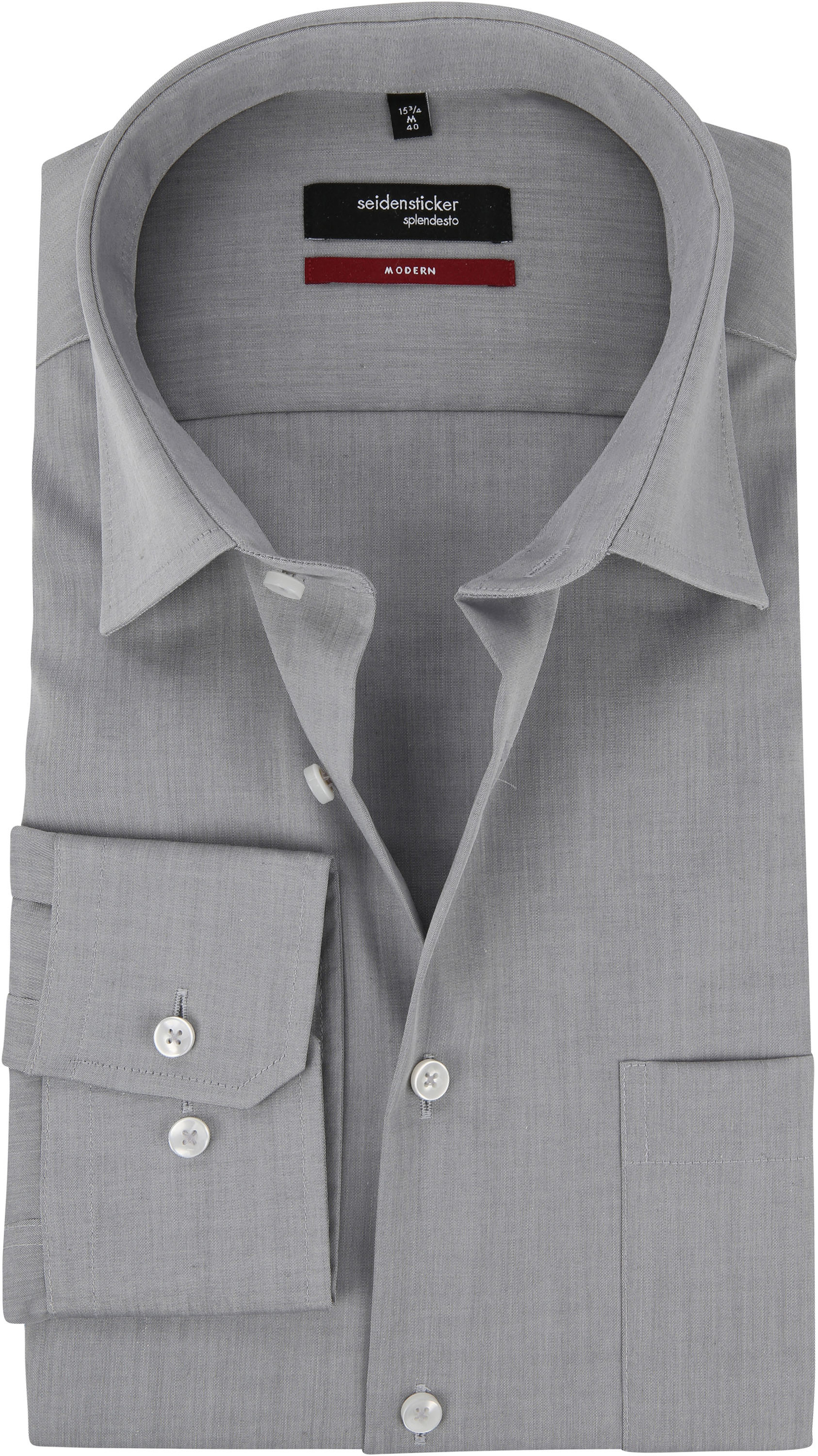 Seidensticker Strijkvrij Overhemd Grijs foto 0