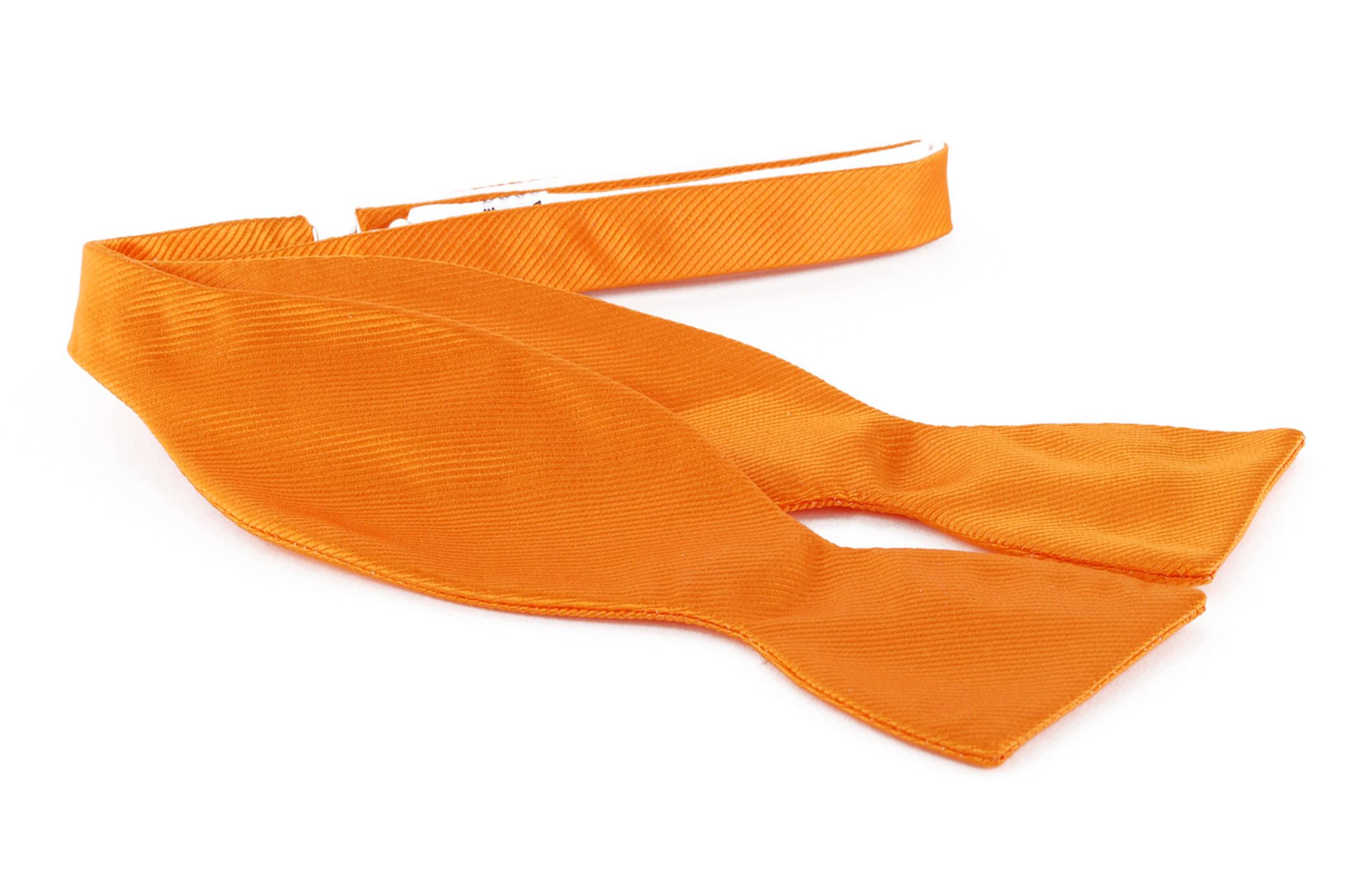 Selbstbinder Fliege Seide Orange F01