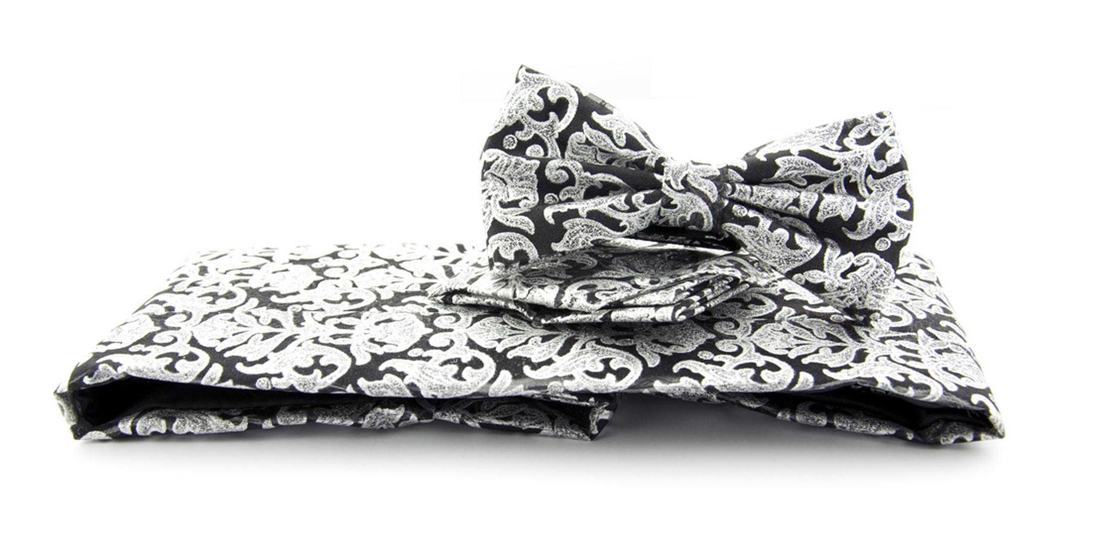 set kummerbund fliege einstecktuch schwarz motiv online. Black Bedroom Furniture Sets. Home Design Ideas