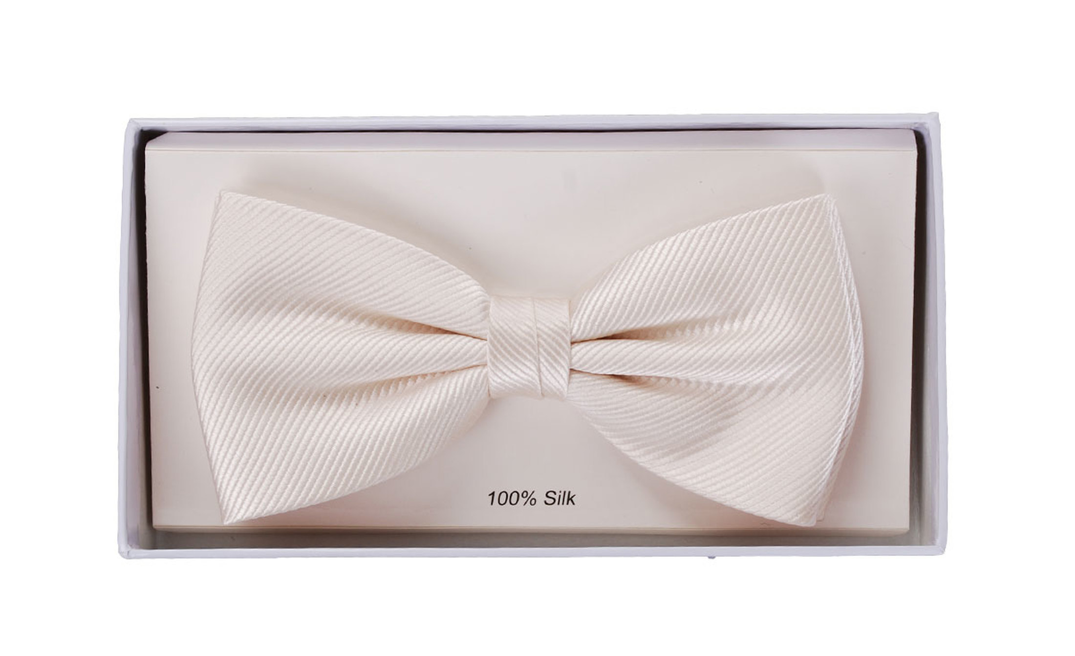 Silk Bow Tie Ecru F09